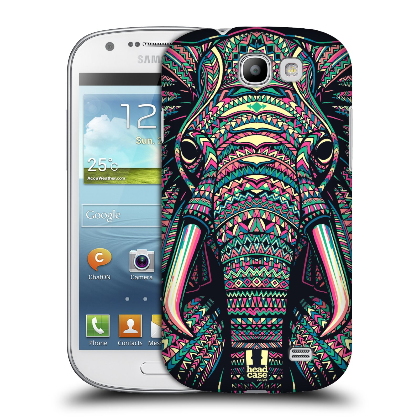 Plastové pouzdro na mobil Samsung Galaxy Express HEAD CASE AZTEC SLON (Kryt či obal na mobilní telefon Samsung Galaxy Express GT-i8730)