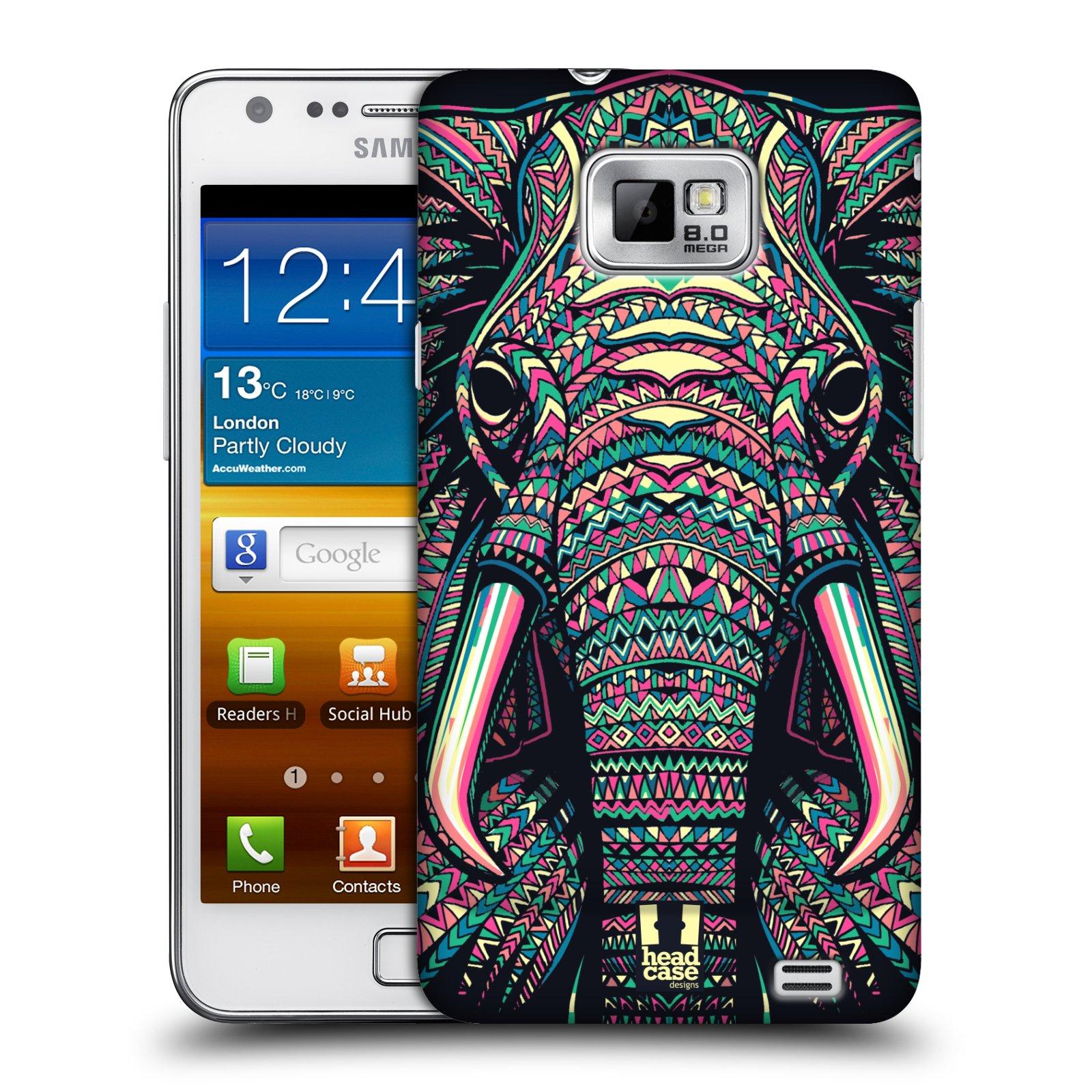 Plastové pouzdro na mobil Samsung Galaxy S II HEAD CASE AZTEC SLON (Kryt či obal na mobilní telefon Samsung Galaxy S II GT-i9100)