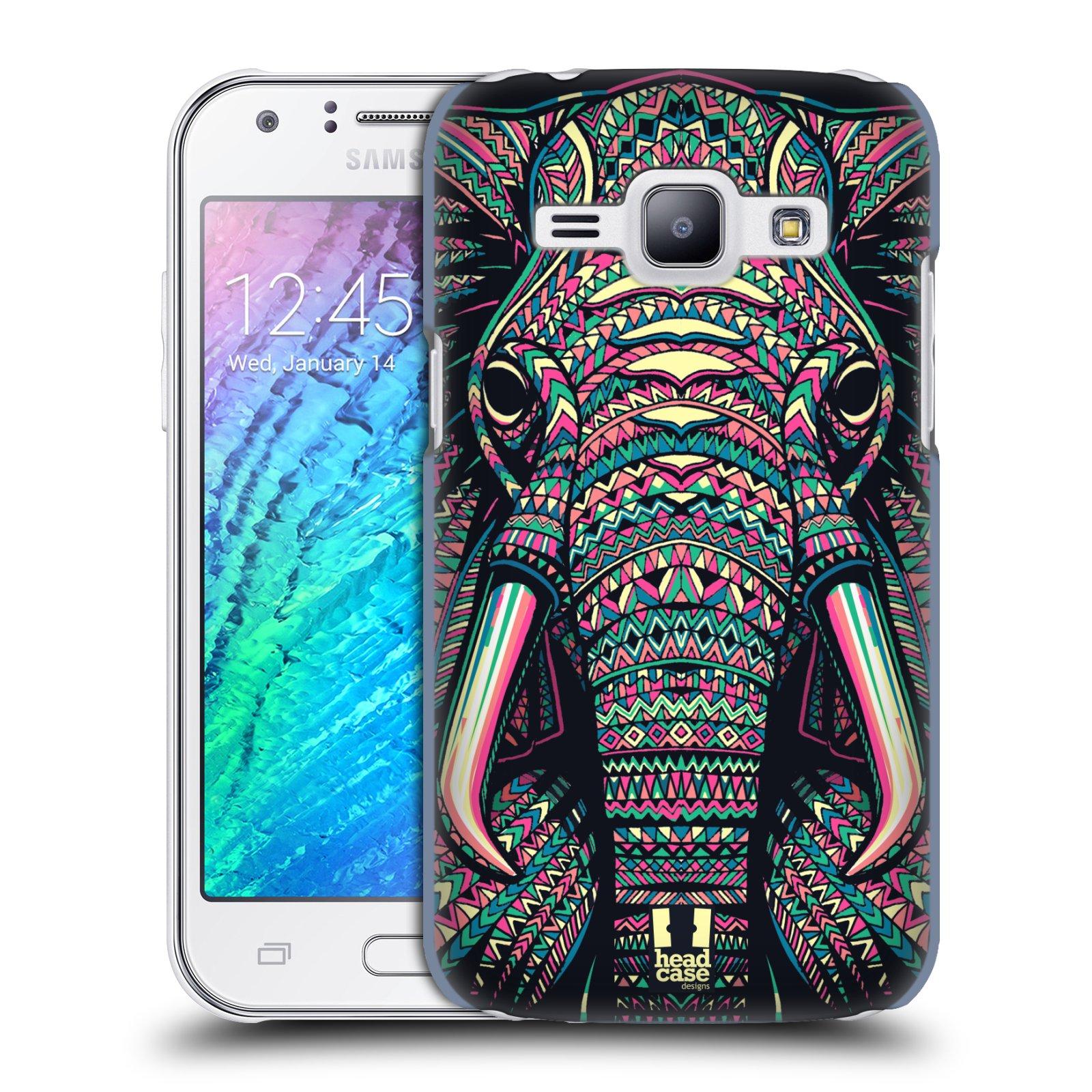 Plastové pouzdro na mobil Samsung Galaxy J1 HEAD CASE AZTEC SLON