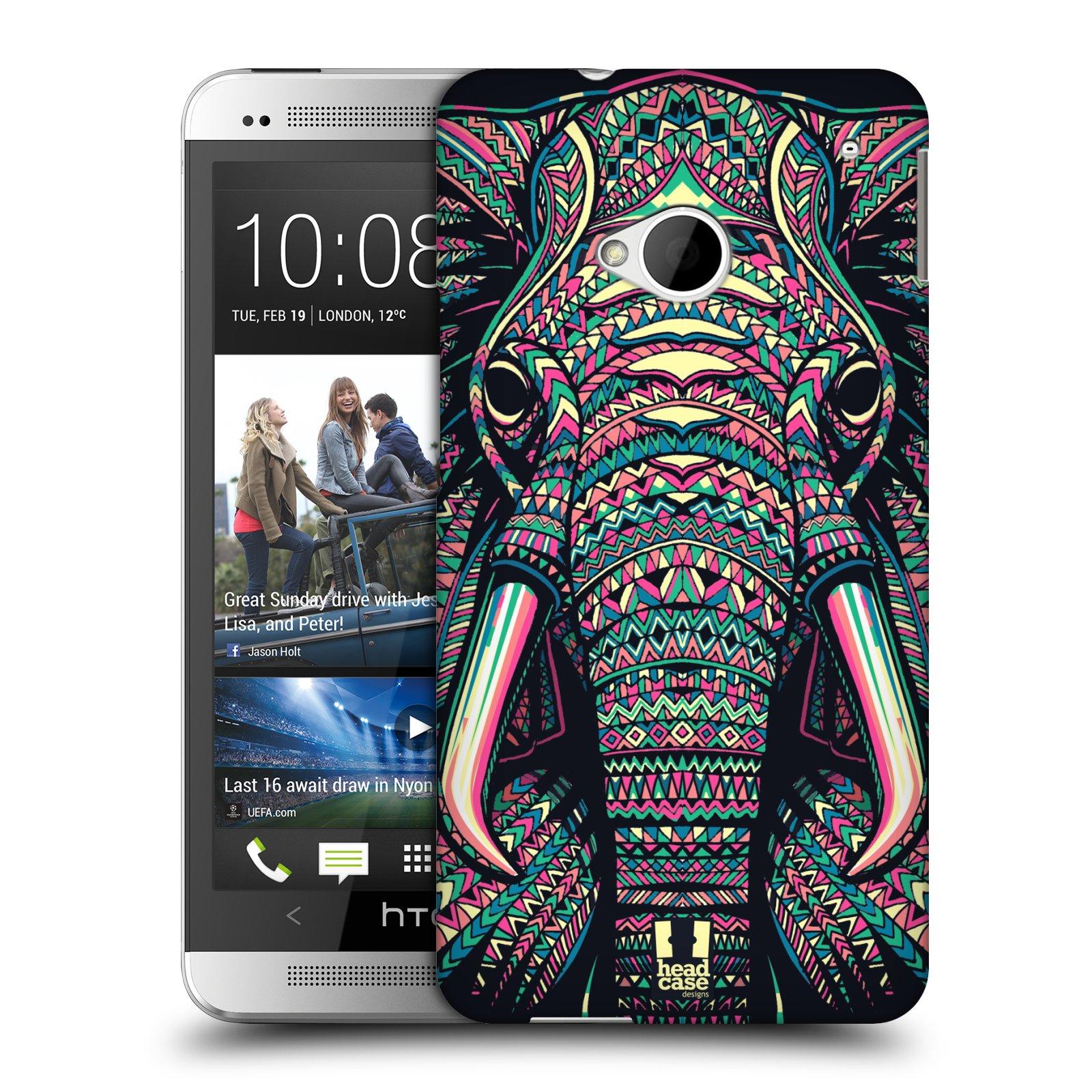 Plastové pouzdro na mobil HTC ONE M7 HEAD CASE AZTEC SLON (Kryt či obal na mobilní telefon HTC ONE M7)