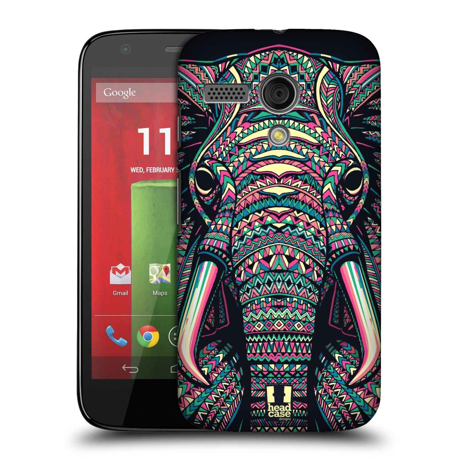 Plastové pouzdro na mobil Motorola Moto G HEAD CASE AZTEC SLON (Kryt či obal na mobilní telefon Motorola Moto G)