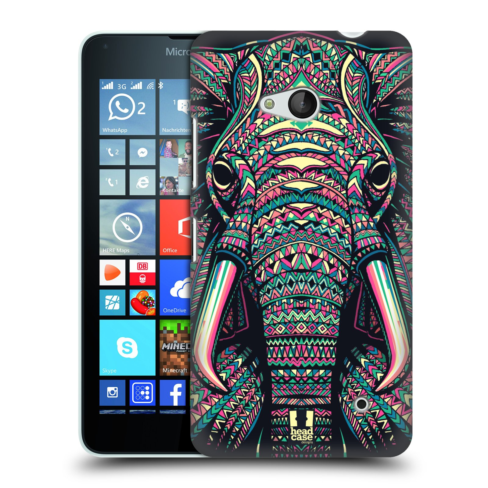 Plastové pouzdro na mobil Microsoft Lumia 640 HEAD CASE AZTEC SLON