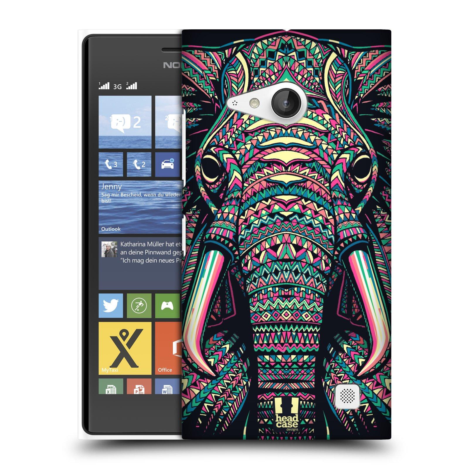 Plastové pouzdro na mobil Nokia Lumia 735 HEAD CASE AZTEC SLON