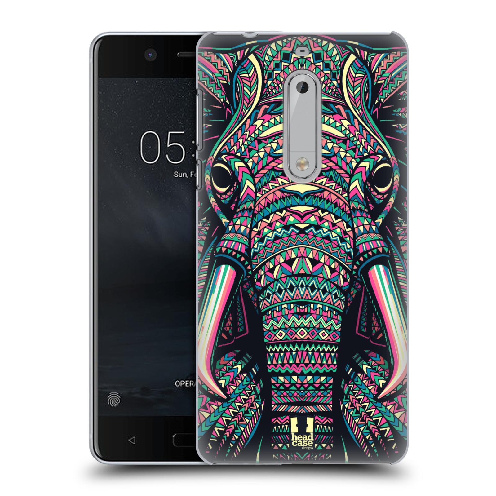Plastové pouzdro na mobil Nokia 5 Head Case - AZTEC SLON