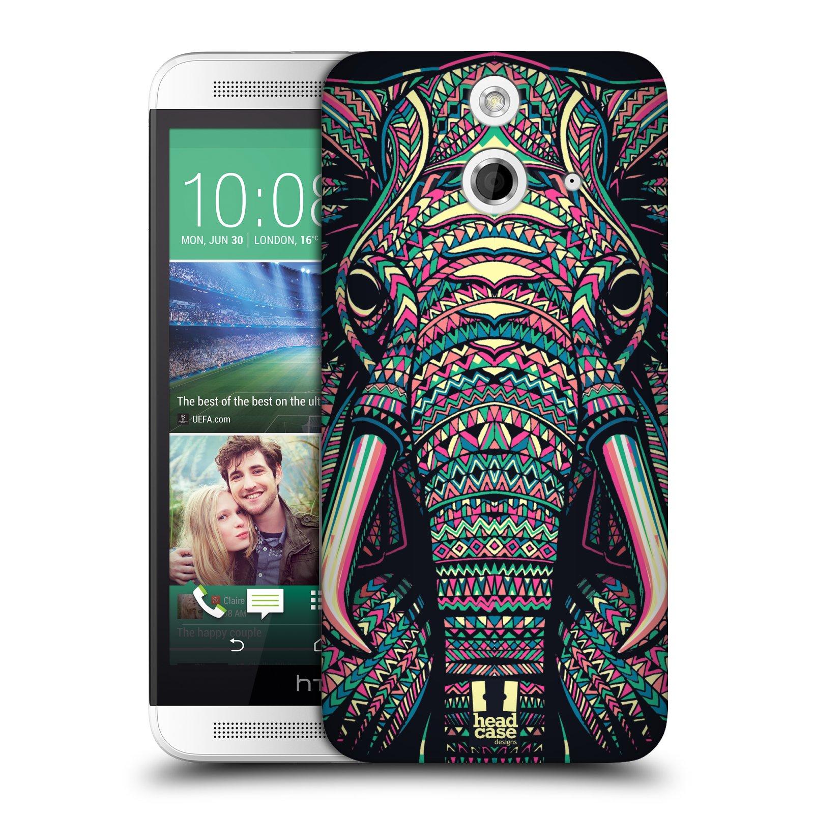 Plastové pouzdro na mobil HTC ONE E8 HEAD CASE AZTEC SLON (Kryt či obal na mobilní telefon HTC ONE E8)