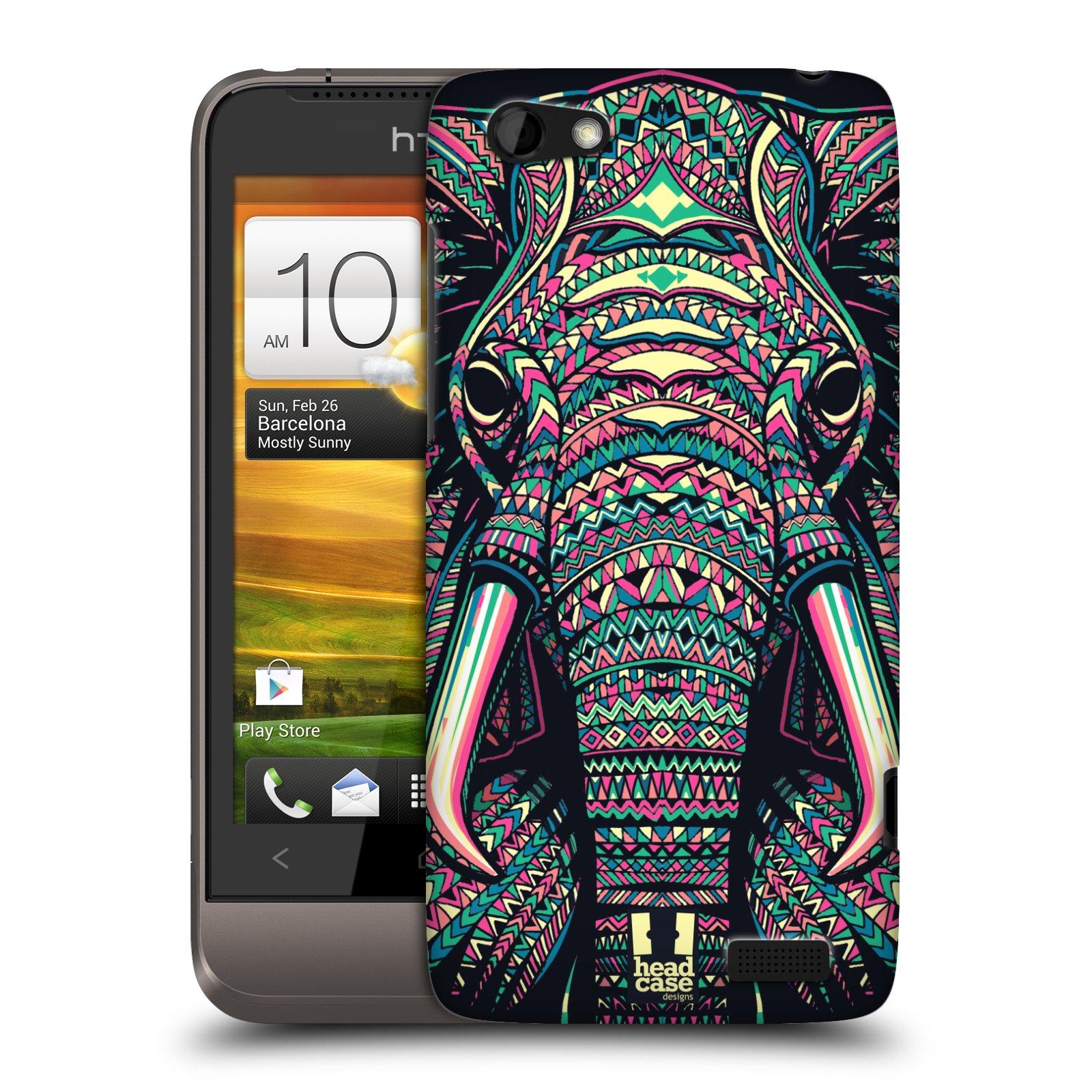 Plastové pouzdro na mobil HTC ONE V HEAD CASE AZTEC SLON (Kryt či obal na mobilní telefon HTC ONE V)