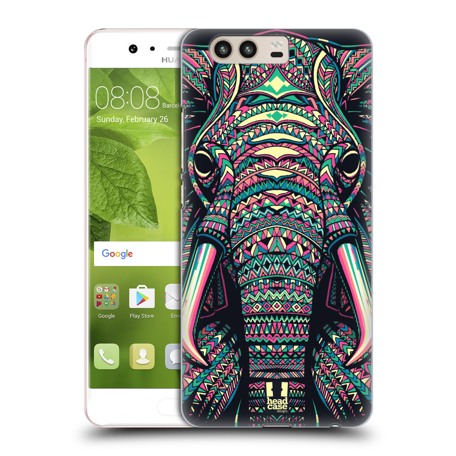 Plastové pouzdro na mobil Huawei P10 - Head Case AZTEC SLON