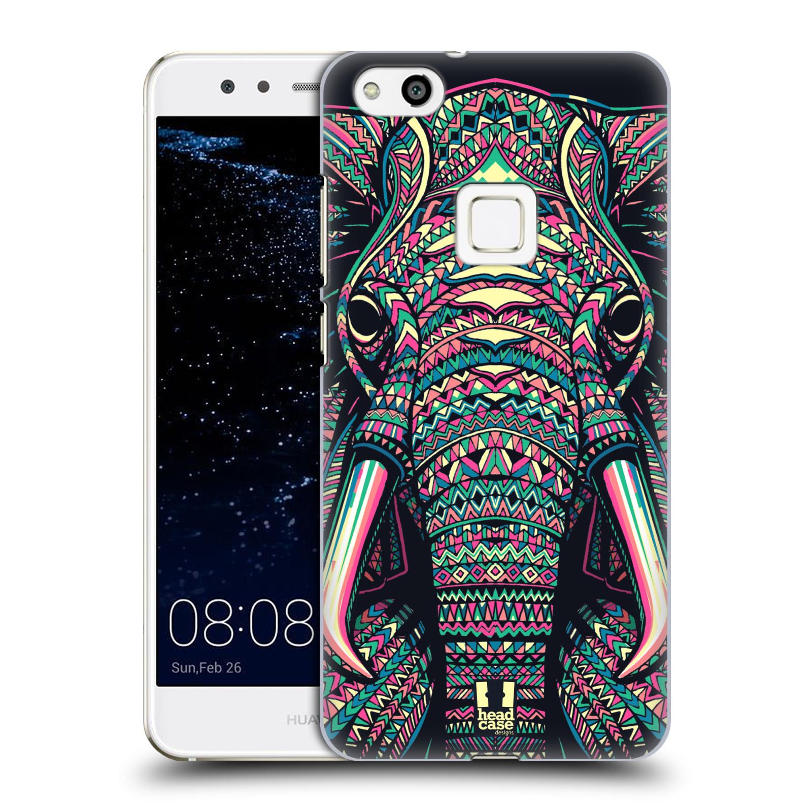 Plastové pouzdro na mobil Huawei P10 Lite Head Case - AZTEC SLON (Plastový kryt či obal na mobilní telefon Huawei P10 Lite Dual SIM (LX1/LX1A))