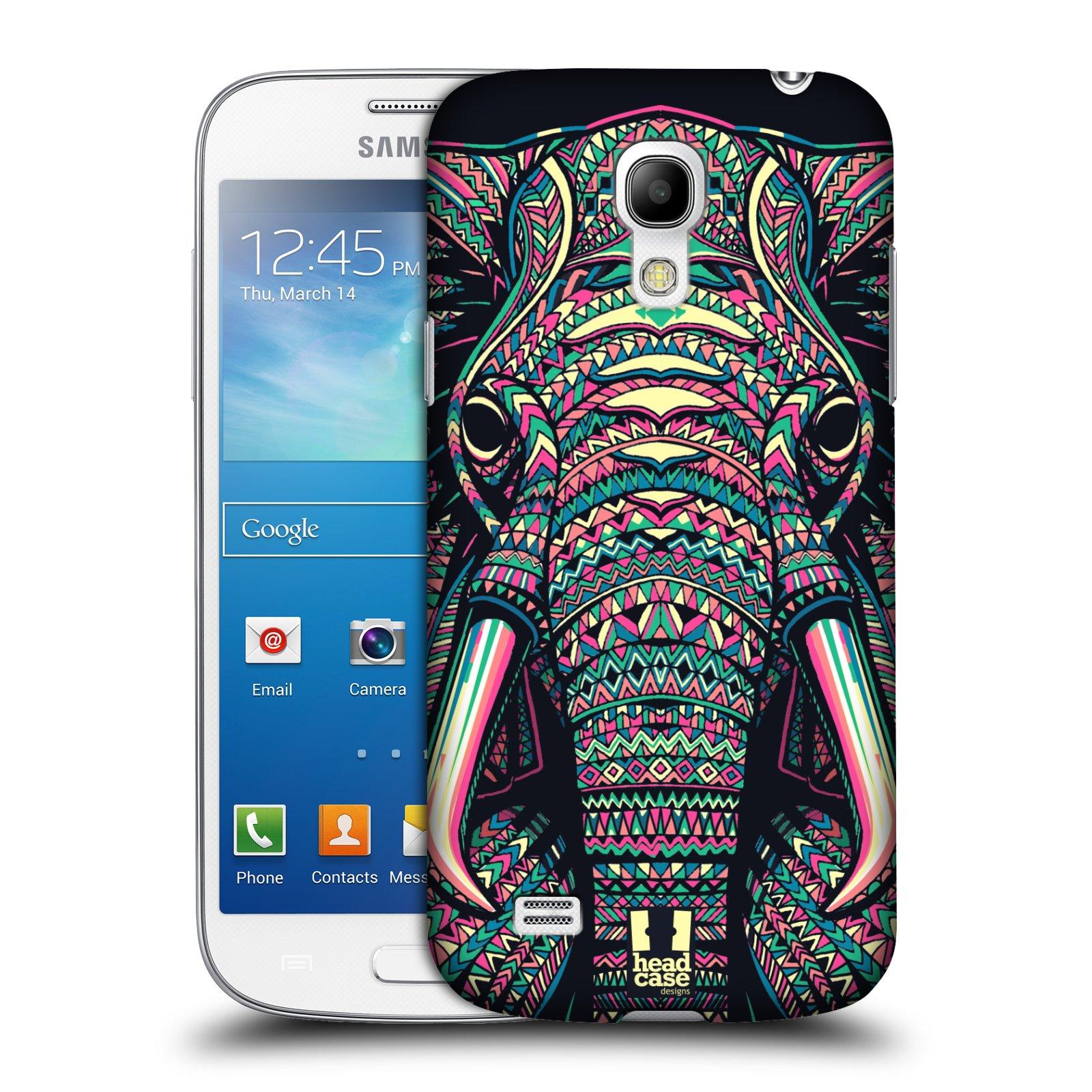 Plastové pouzdro na mobil Samsung Galaxy S4 Mini VE HEAD CASE AZTEC SLON