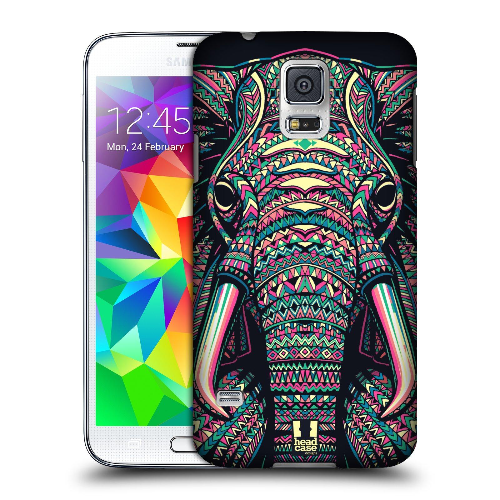 Plastové pouzdro na mobil Samsung Galaxy S5 HEAD CASE AZTEC SLON