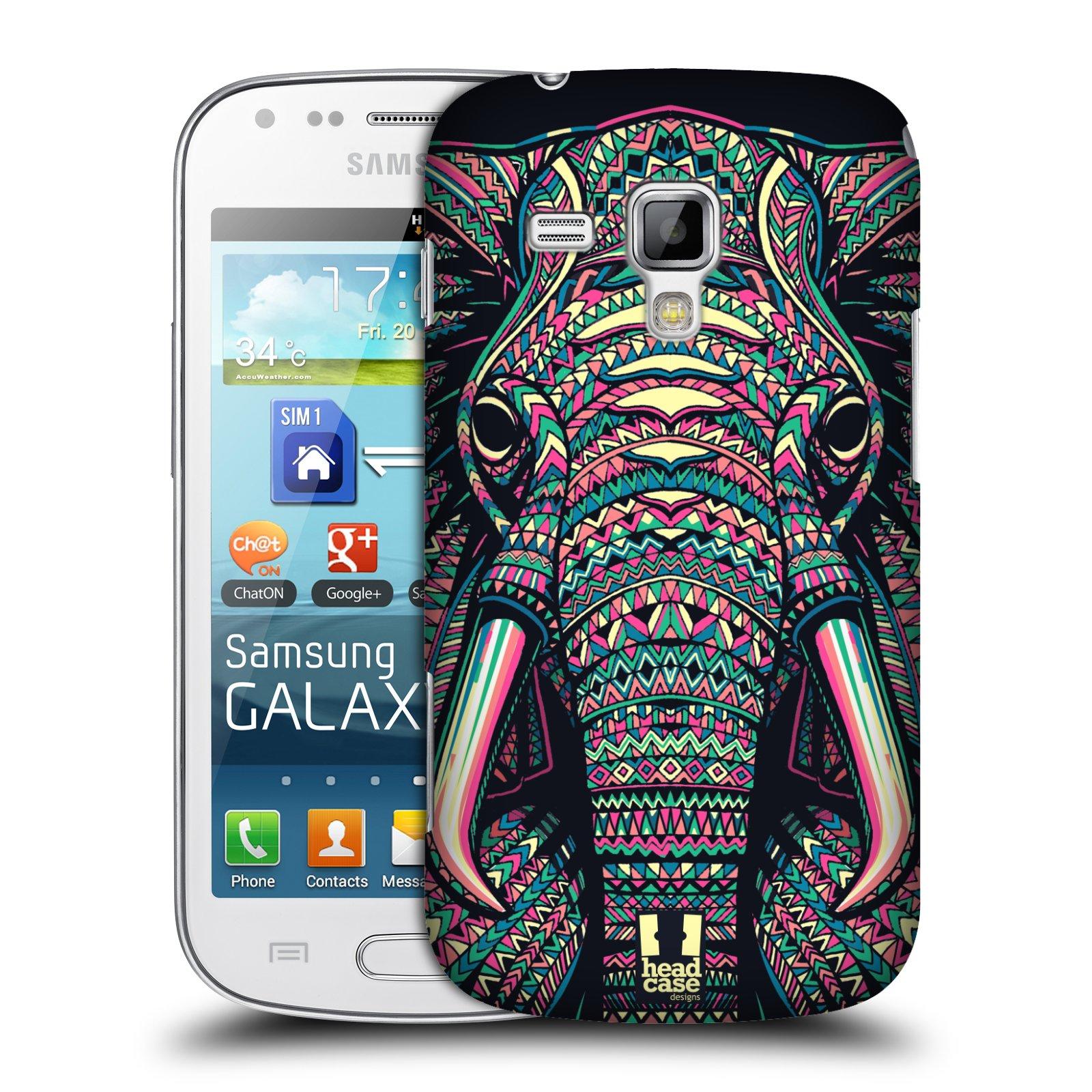 Plastové pouzdro na mobil Samsung Galaxy Trend Plus HEAD CASE AZTEC SLON