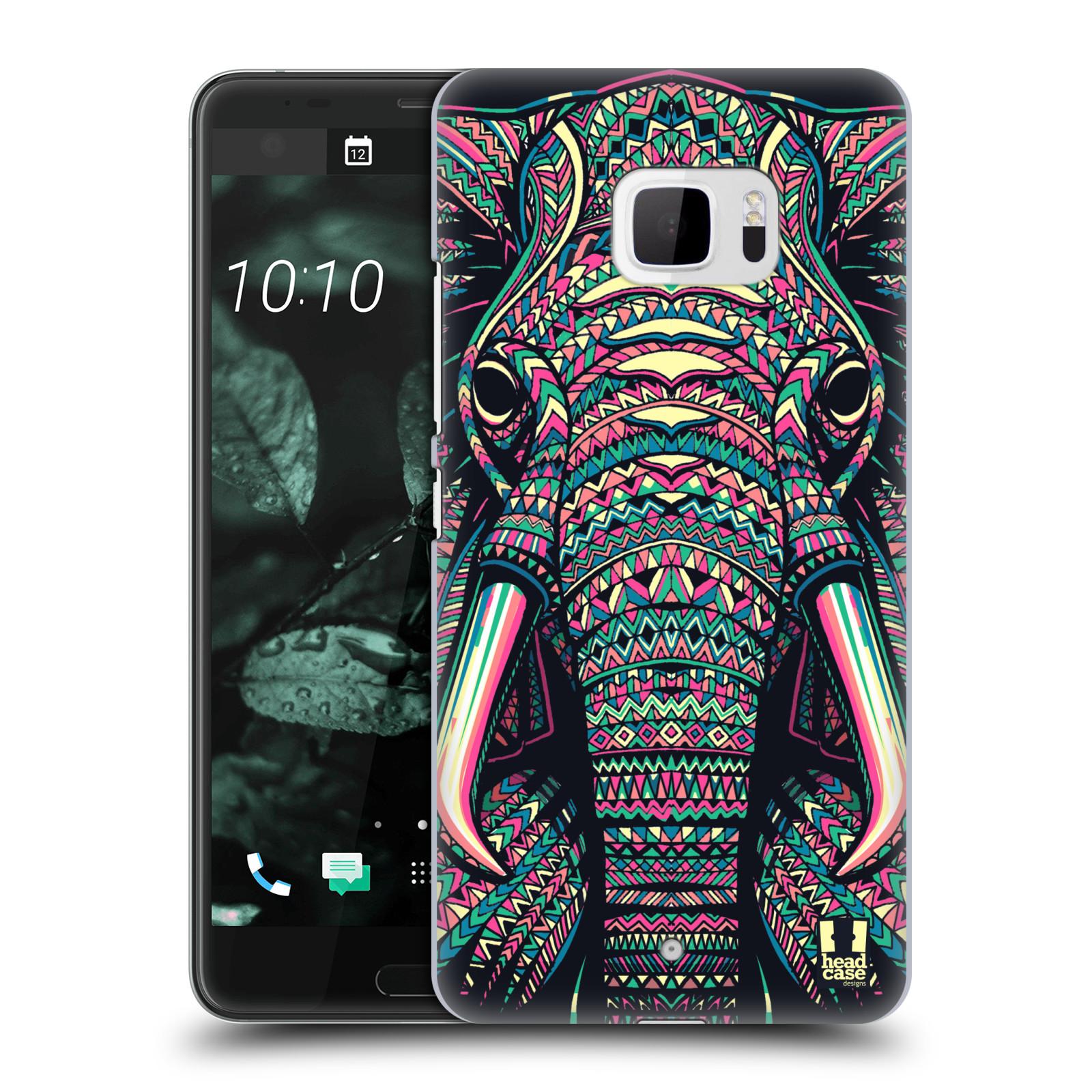 Plastové pouzdro na mobil HTC U Ultra Head Case - AZTEC SLON (Plastový kryt či obal na mobilní telefon HTC U Ultra (99HALT015-00))