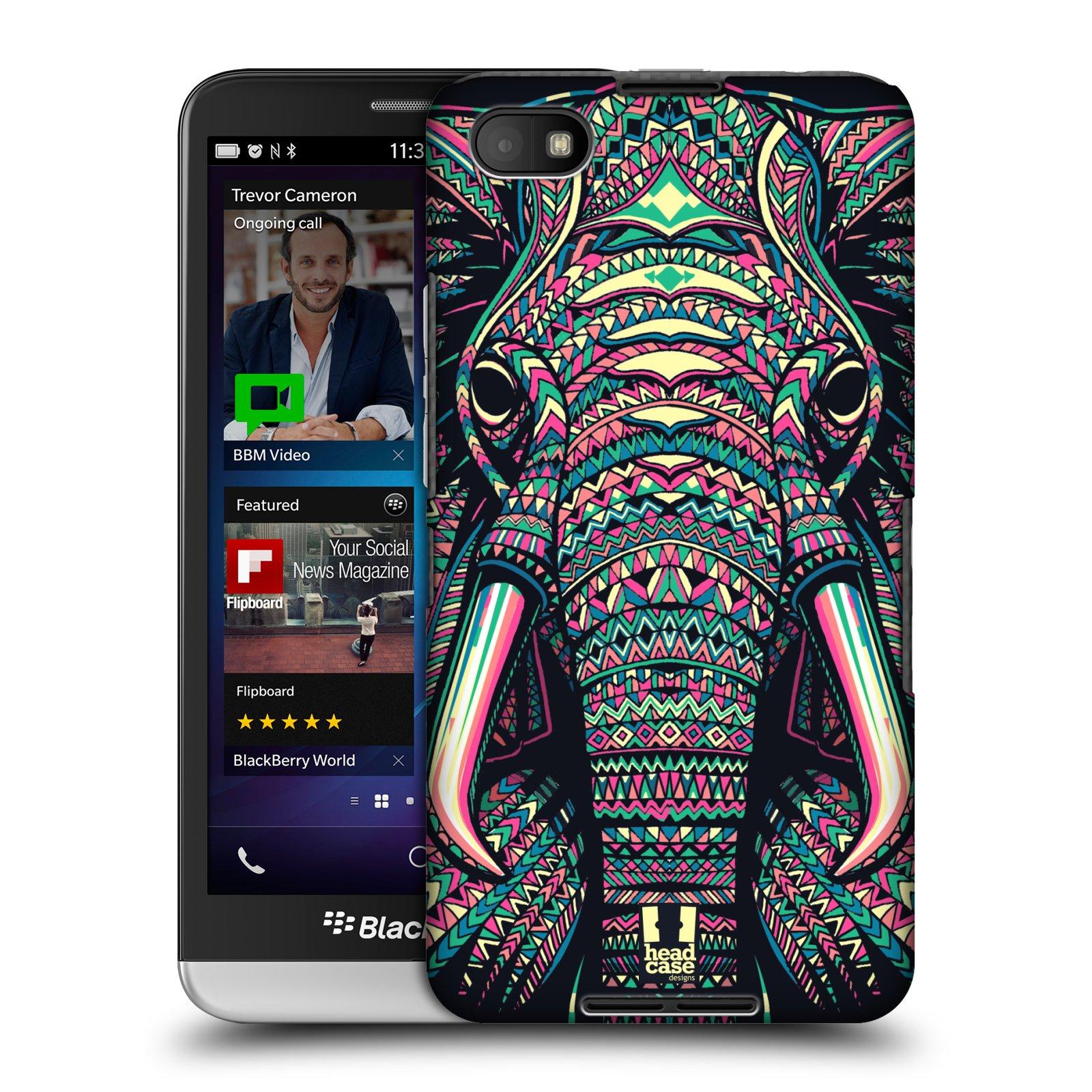 Plastové pouzdro na mobil Blackberry Z30 HEAD CASE AZTEC SLON (Kryt či obal na mobilní telefon Blackberry Z30)