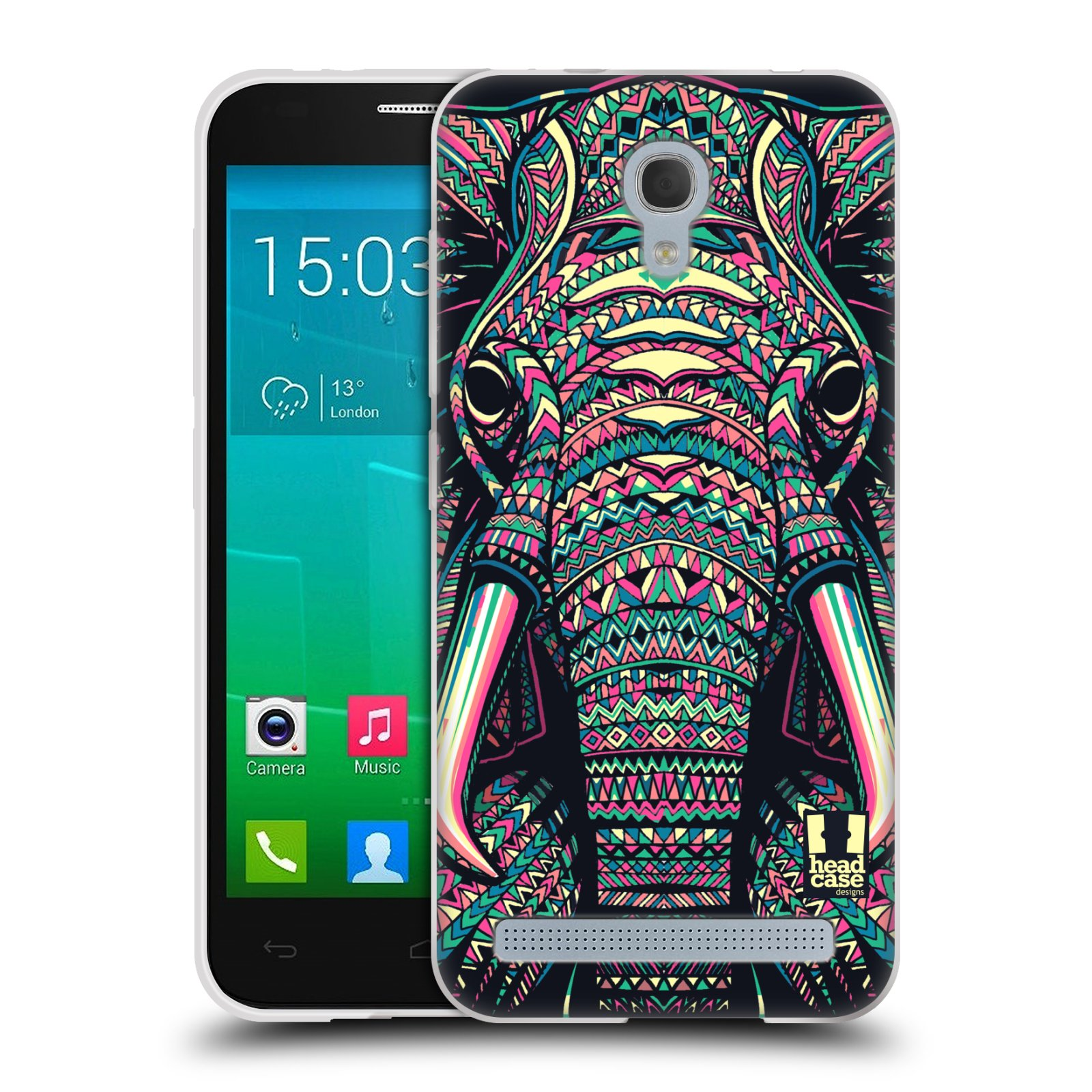Silikonové pouzdro na mobil Alcatel One Touch Idol 2 Mini S 6036Y HEAD CASE AZTEC SLON