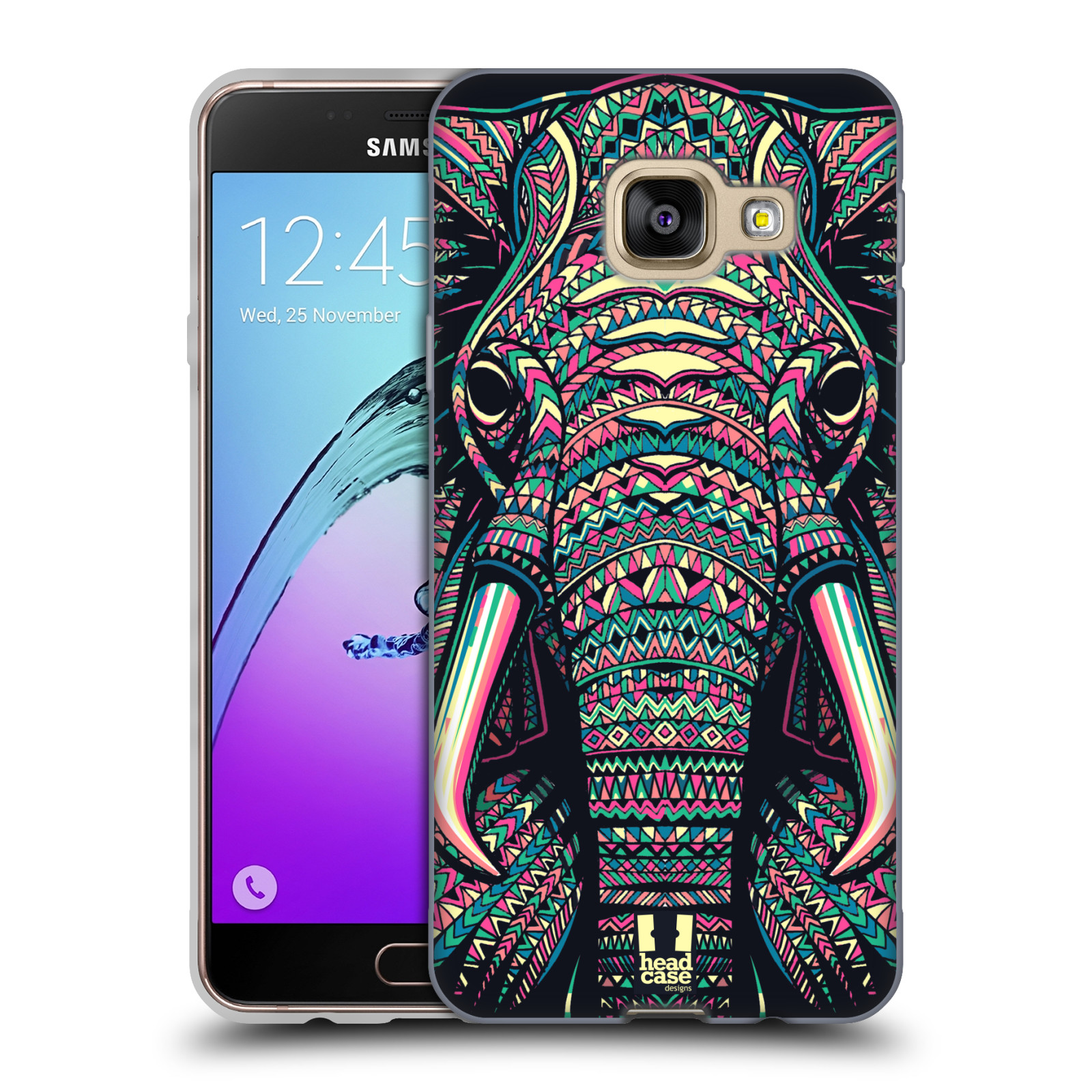 Silikonové pouzdro na mobil Samsung Galaxy A3 (2016) HEAD CASE AZTEC SLON
