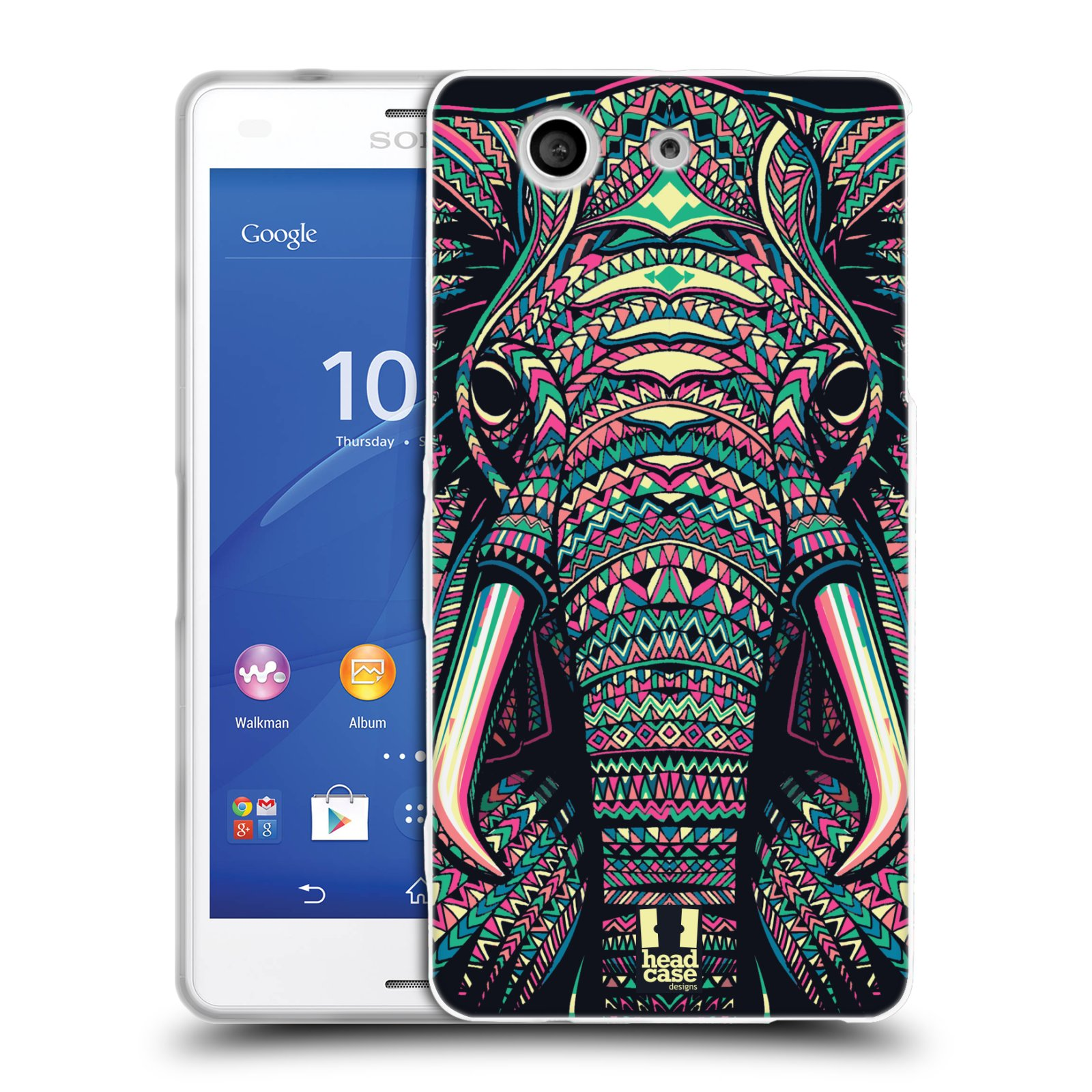 Silikonové pouzdro na mobil Sony Xperia Z3 Compact D5803 HEAD CASE AZTEC SLON