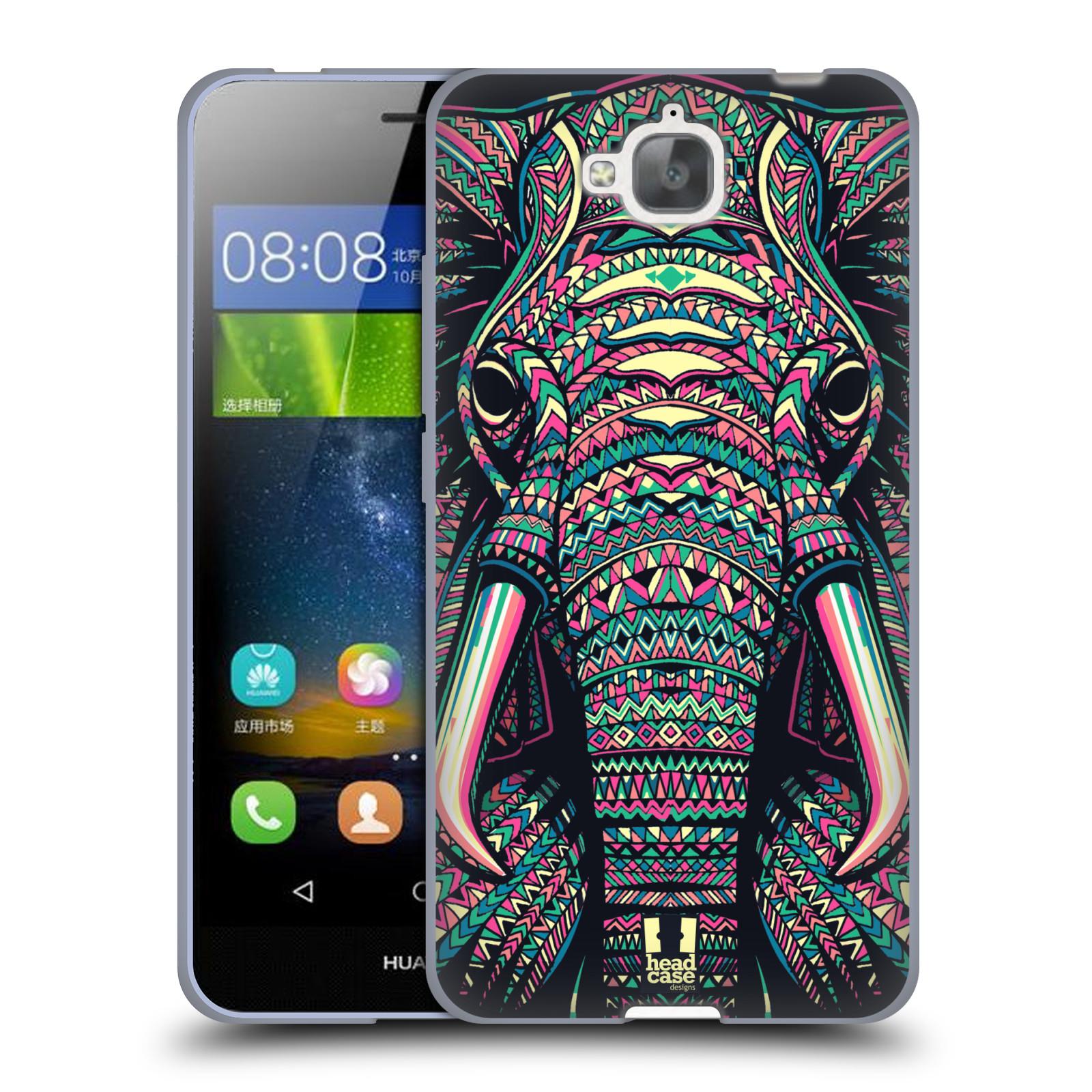 Silikonové pouzdro na mobil Huawei Y6 Pro Dual Sim HEAD CASE AZTEC SLON