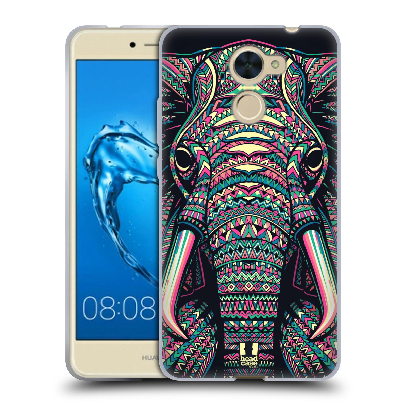 Silikonové pouzdro na mobil Huawei Y7 - Head Case - AZTEC SLON