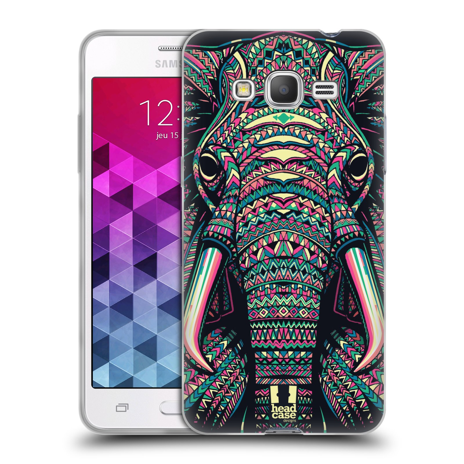 Silikonové pouzdro na mobil Samsung Galaxy Grand Prime HEAD CASE AZTEC SLON