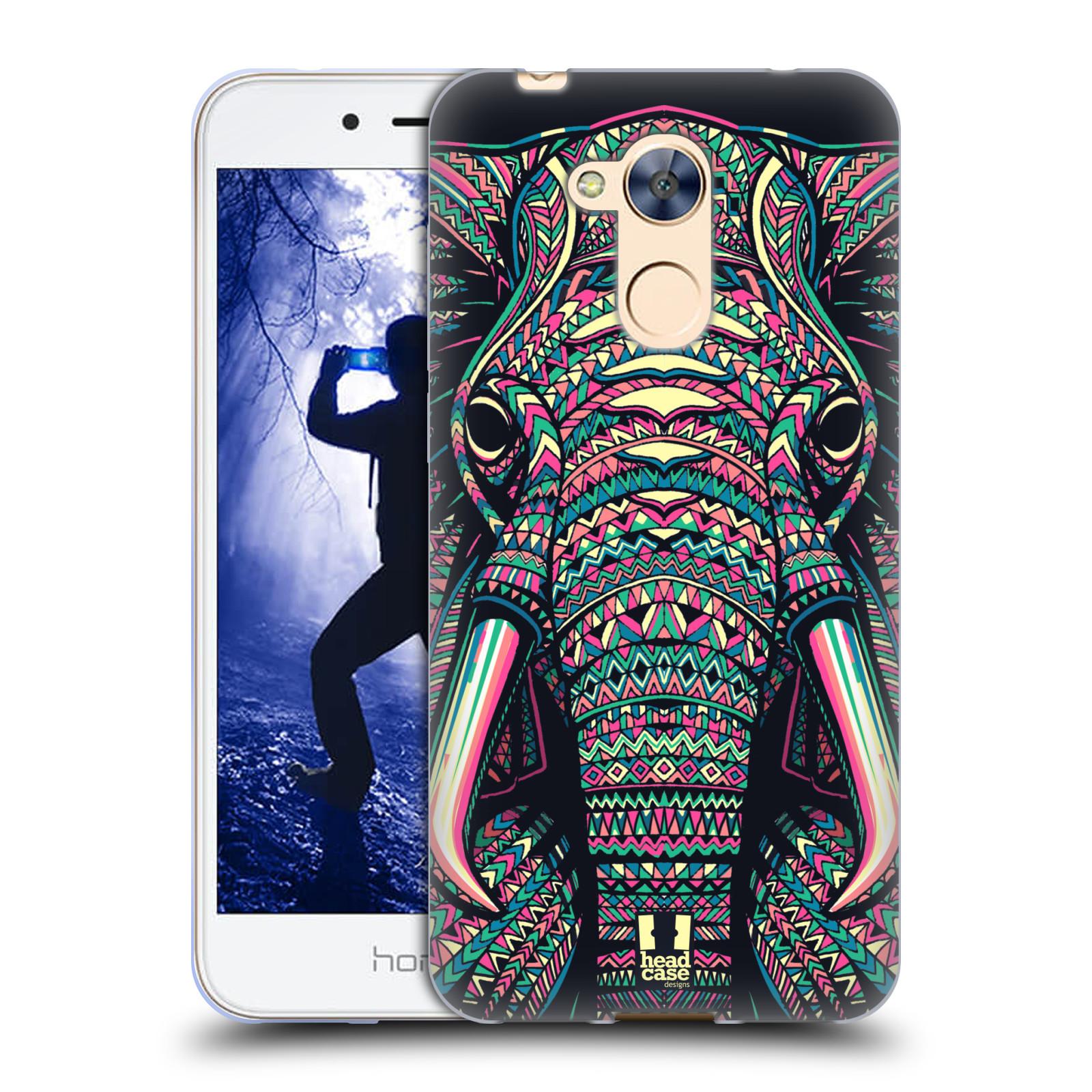 Silikonové pouzdro na mobil Honor 6A - Head Case - AZTEC SLON