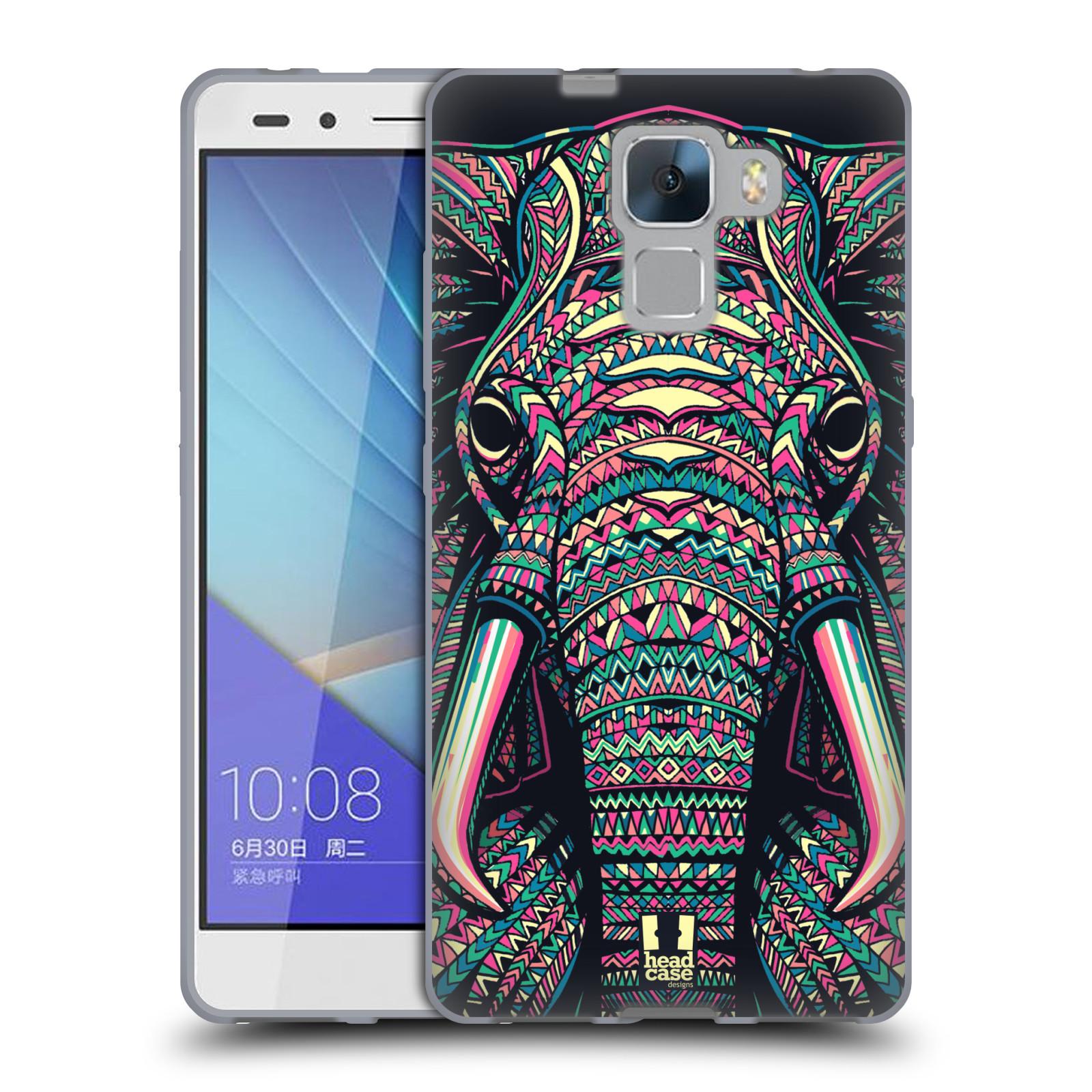 Silikonové pouzdro na mobil Honor 7 HEAD CASE AZTEC SLON