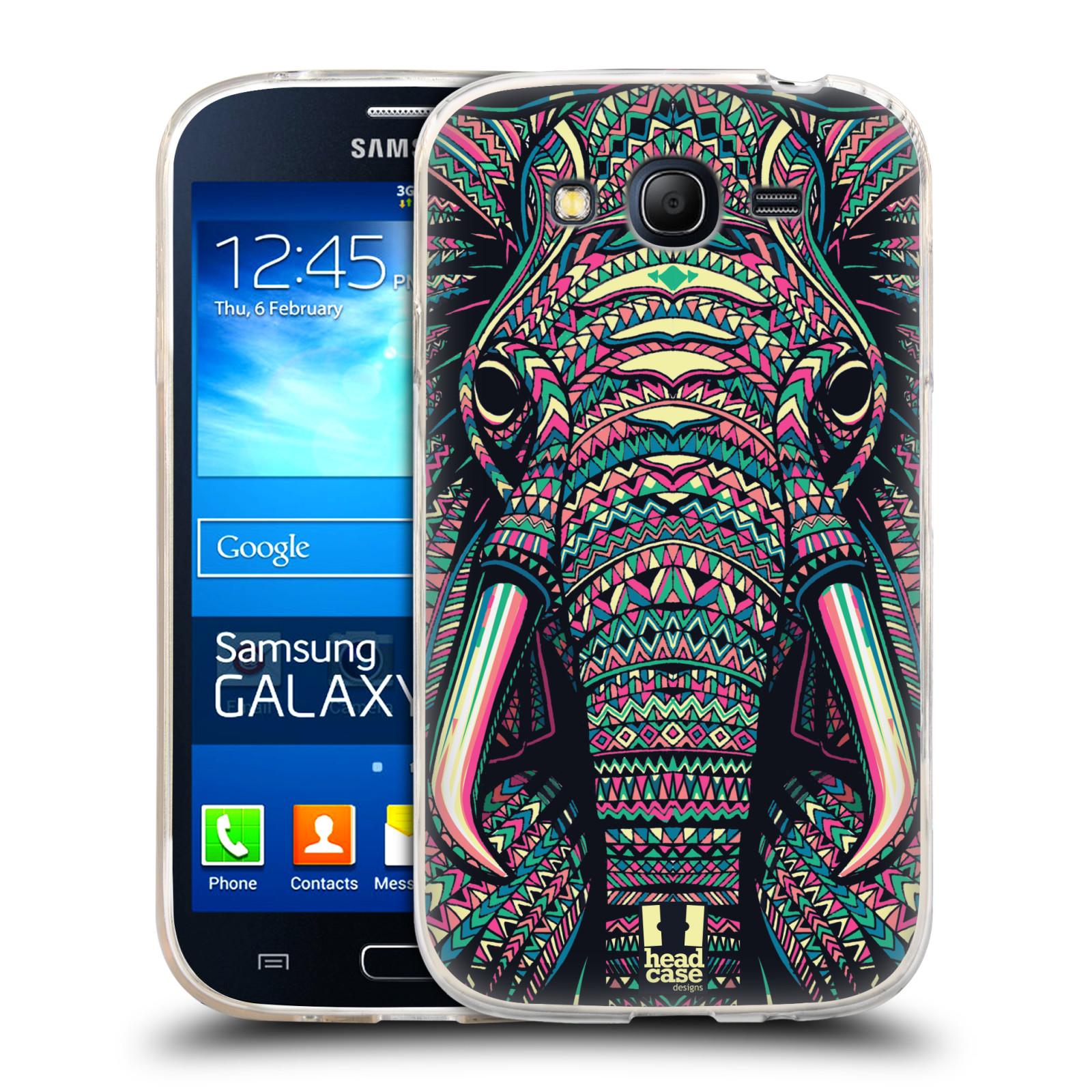 Silikonové pouzdro na mobil Samsung Galaxy Grand Neo HEAD CASE AZTEC SLON (Silikonový kryt či obal na mobilní telefon Samsung Galaxy Grand Neo GT-I9060)