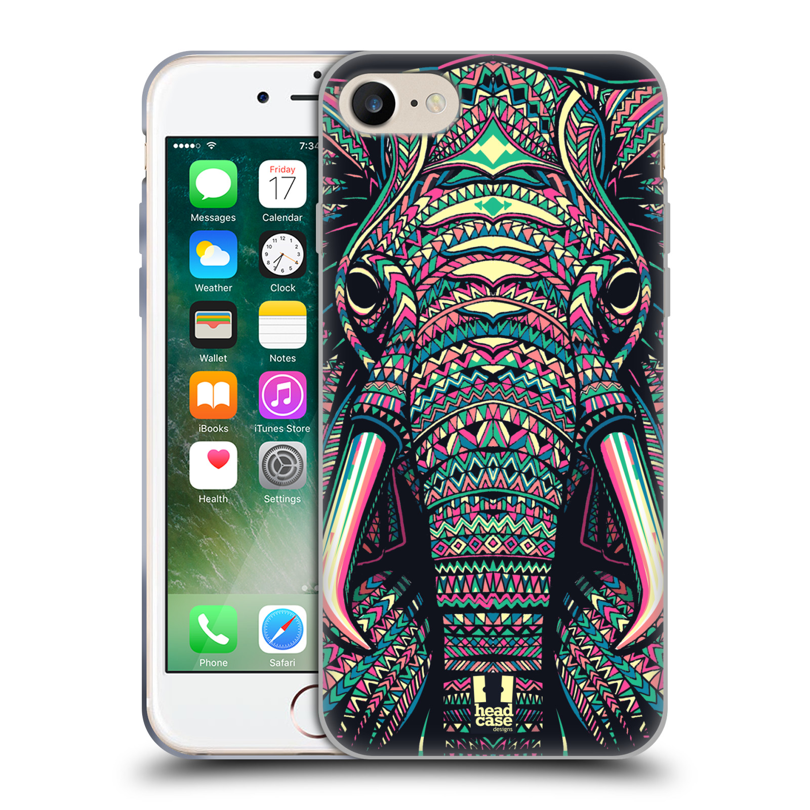 Silikonové pouzdro na mobil Apple iPhone 8 - Head Case - AZTEC SLON