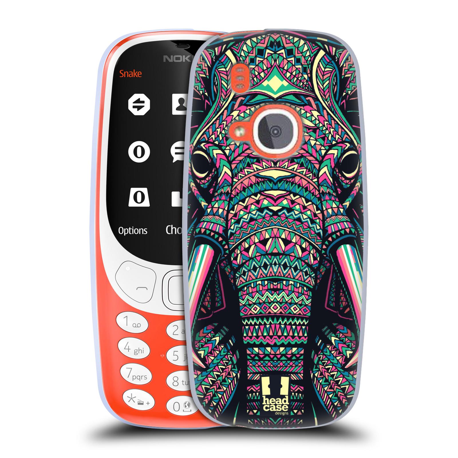 Silikonové pouzdro na mobil Nokia 3310 - Head Case - AZTEC SLON