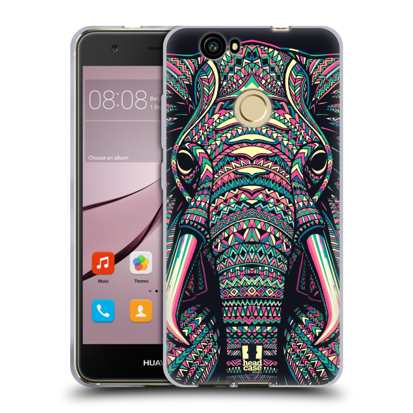 Silikonové pouzdro na mobil Huawei Nova - Head Case - AZTEC SLON