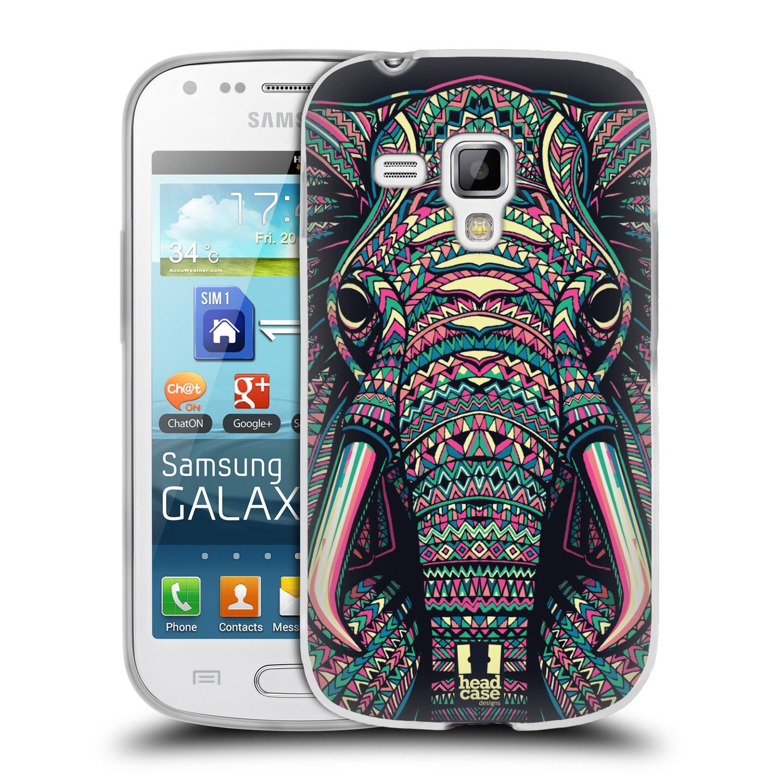 Silikonové pouzdro na mobil Samsung Galaxy S Duos 2 HEAD CASE AZTEC SLON (Silikonový kryt či obal na mobilní telefon Samsung Galaxy S Duos 2 GT-S7582)
