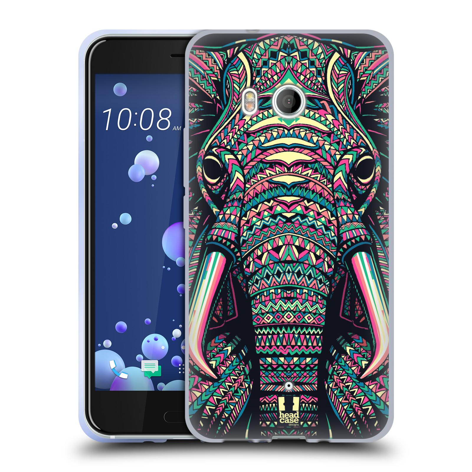 Silikonové pouzdro na mobil HTC U11 - Head Case - AZTEC SLON