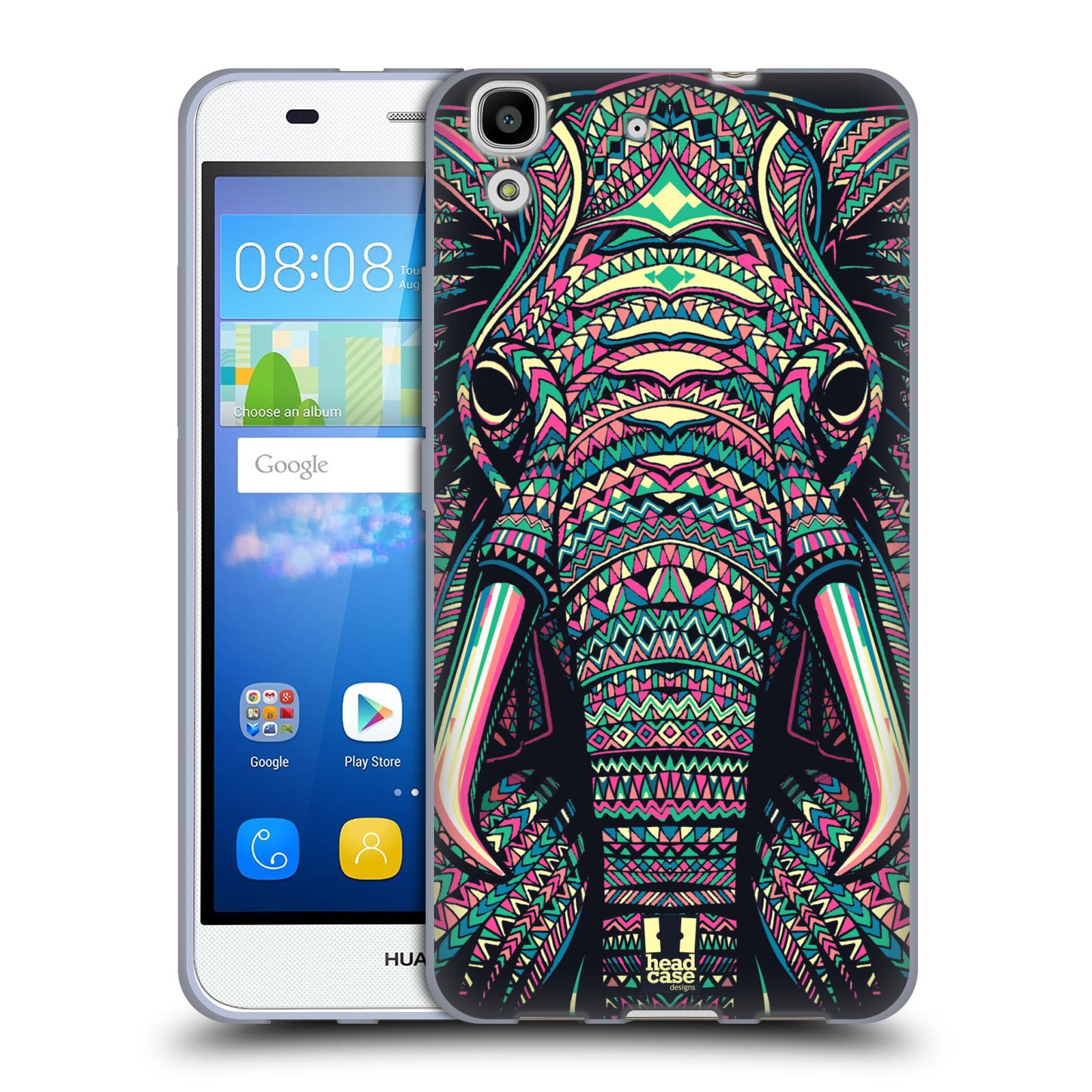 Silikonové pouzdro na mobil Huawei Y6 HEAD CASE AZTEC SLON