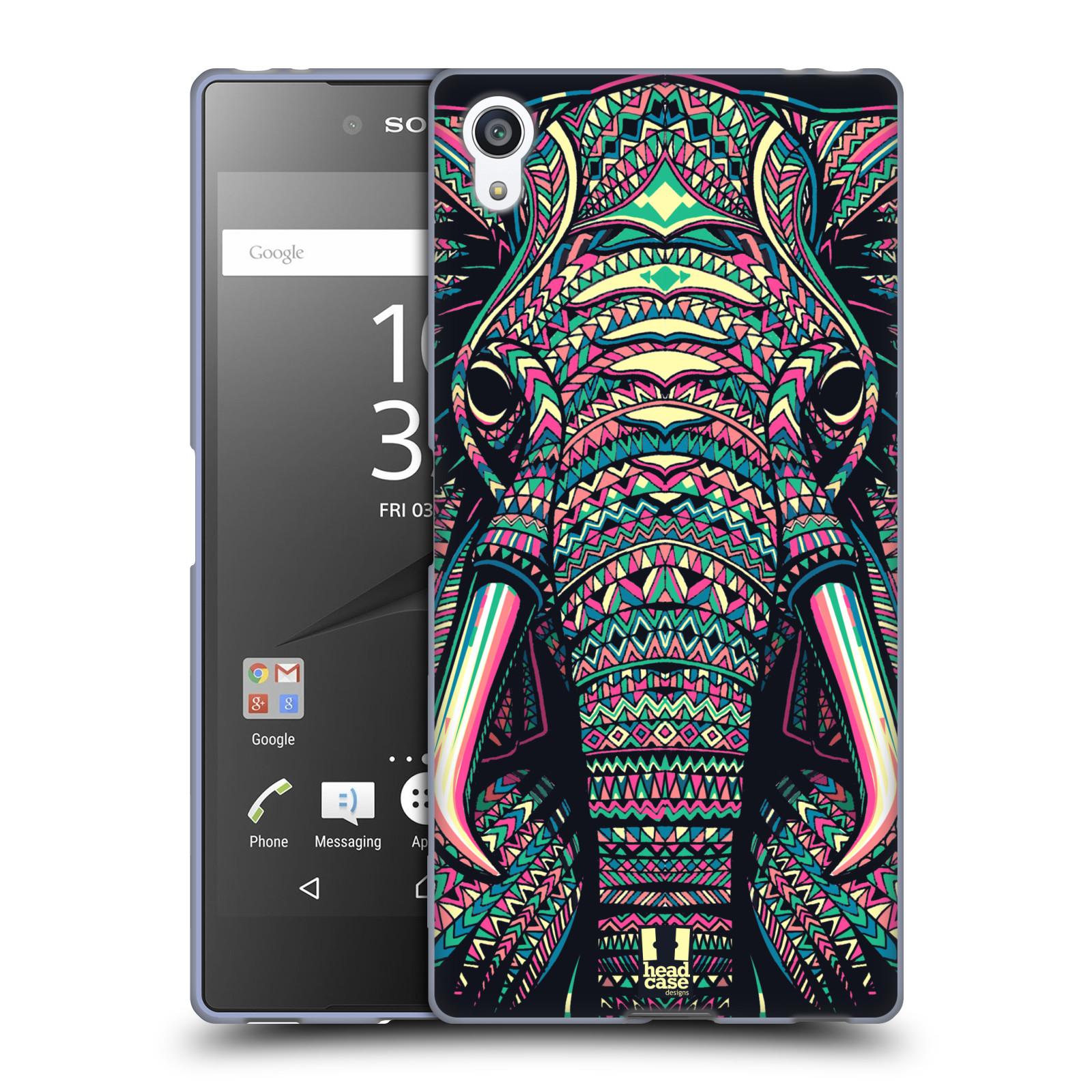 Silikonové pouzdro na mobil Sony Xperia Z5 Premium HEAD CASE AZTEC SLON