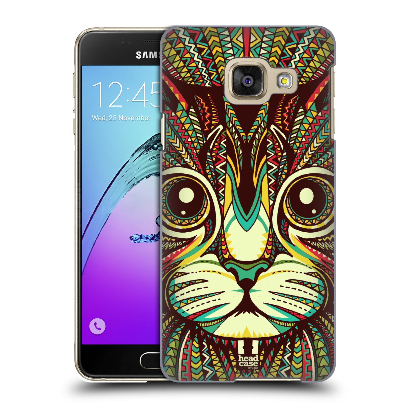 Plastové pouzdro na mobil Samsung Galaxy A3 (2016) HEAD CASE AZTEC KOČKA