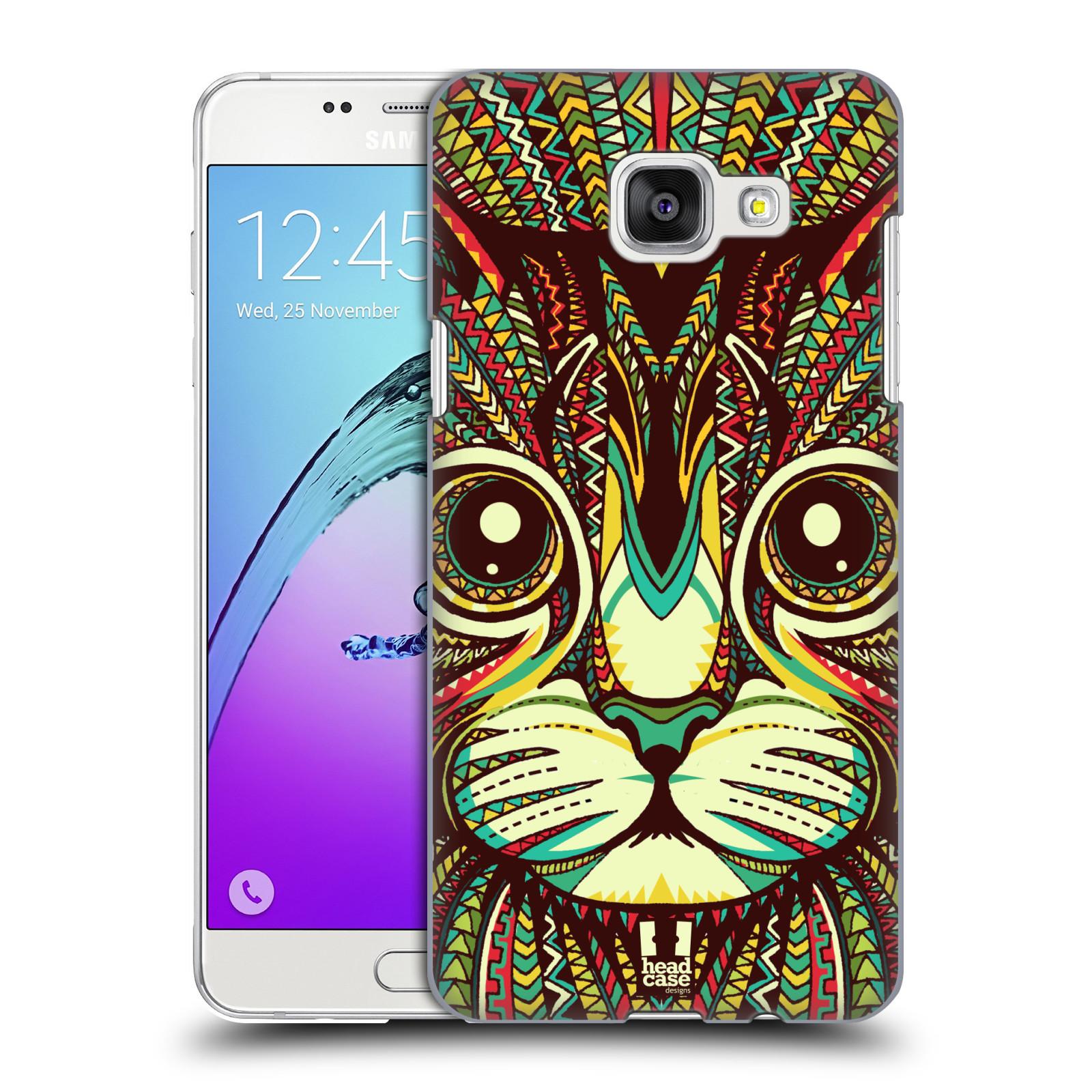 Plastové pouzdro na mobil Samsung Galaxy A5 (2016) HEAD CASE AZTEC KOČKA