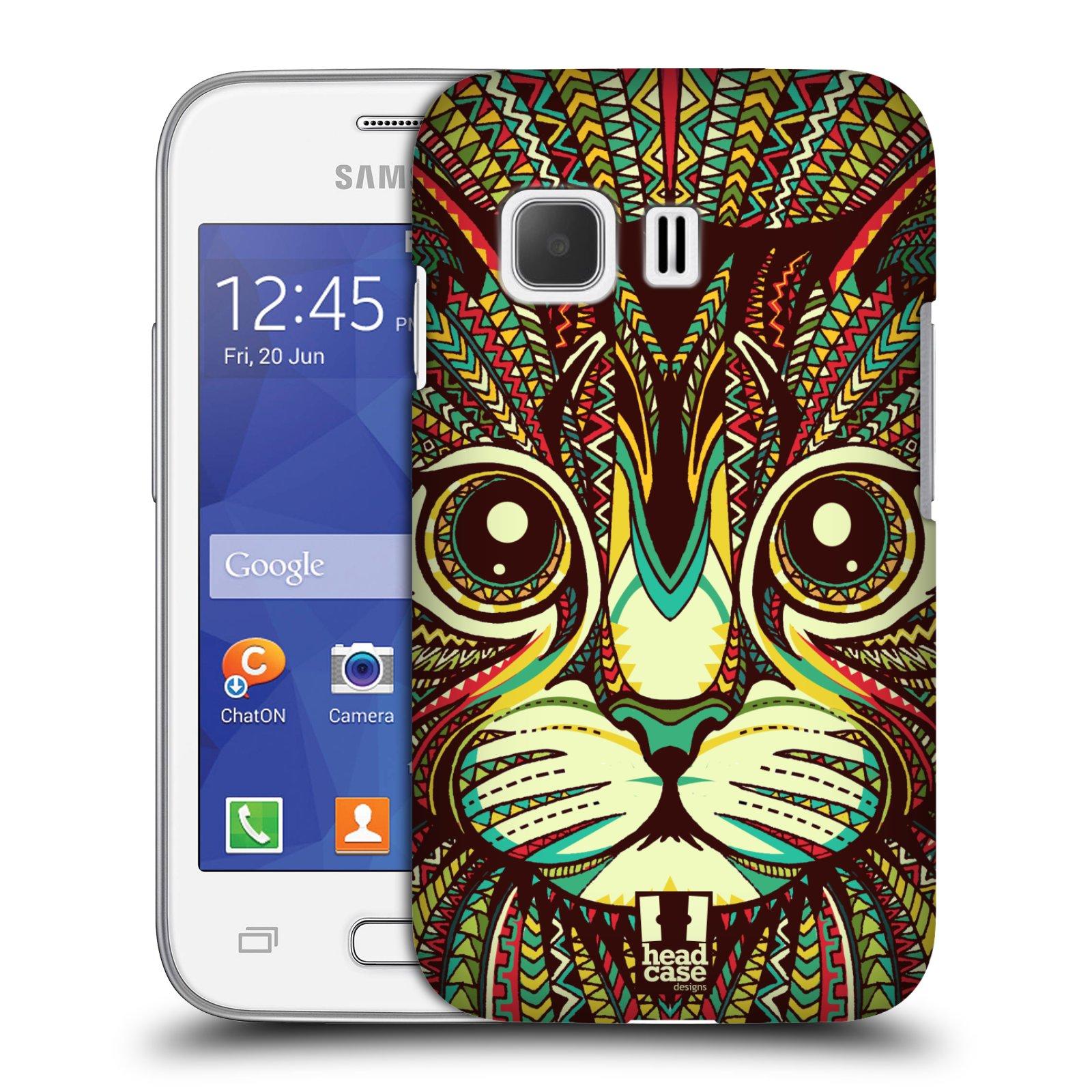 Plastové pouzdro na mobil Samsung Galaxy Young 2 HEAD CASE AZTEC KOČKA (Kryt či obal na mobilní telefon Samsung Galaxy Young 2 SM-G130)