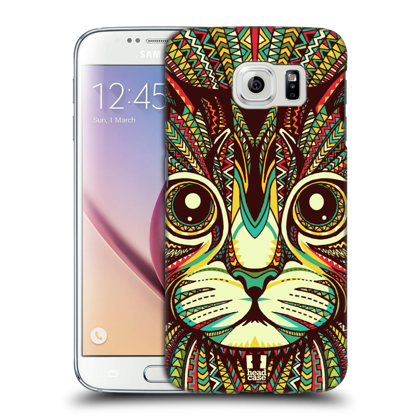 Plastové pouzdro na mobil Samsung Galaxy S6 HEAD CASE AZTEC KOČKA