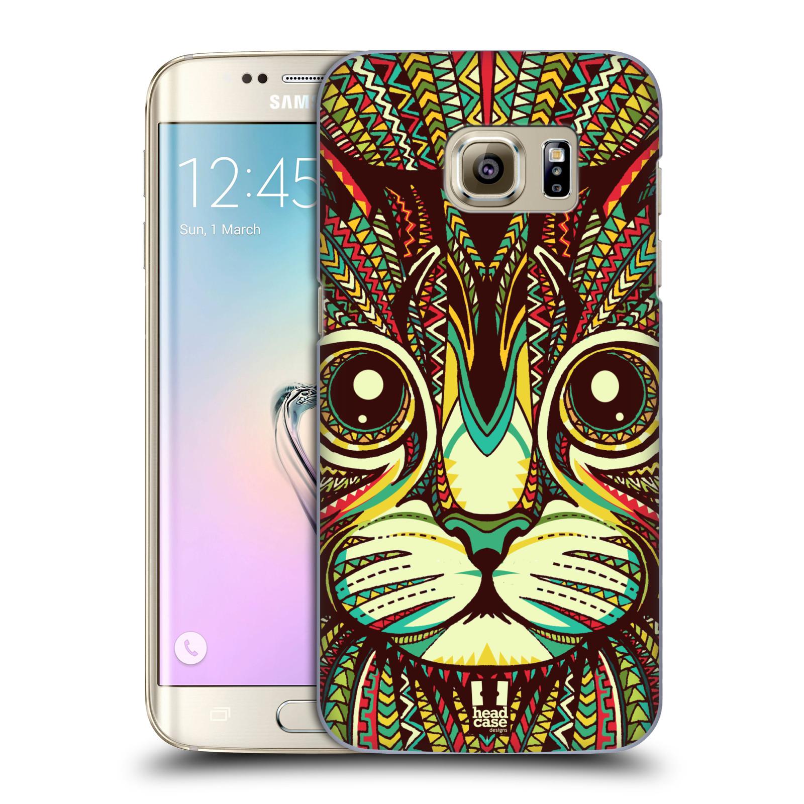 Plastové pouzdro na mobil Samsung Galaxy S7 Edge HEAD CASE AZTEC KOČKA (Kryt  či obal 859a28089c6