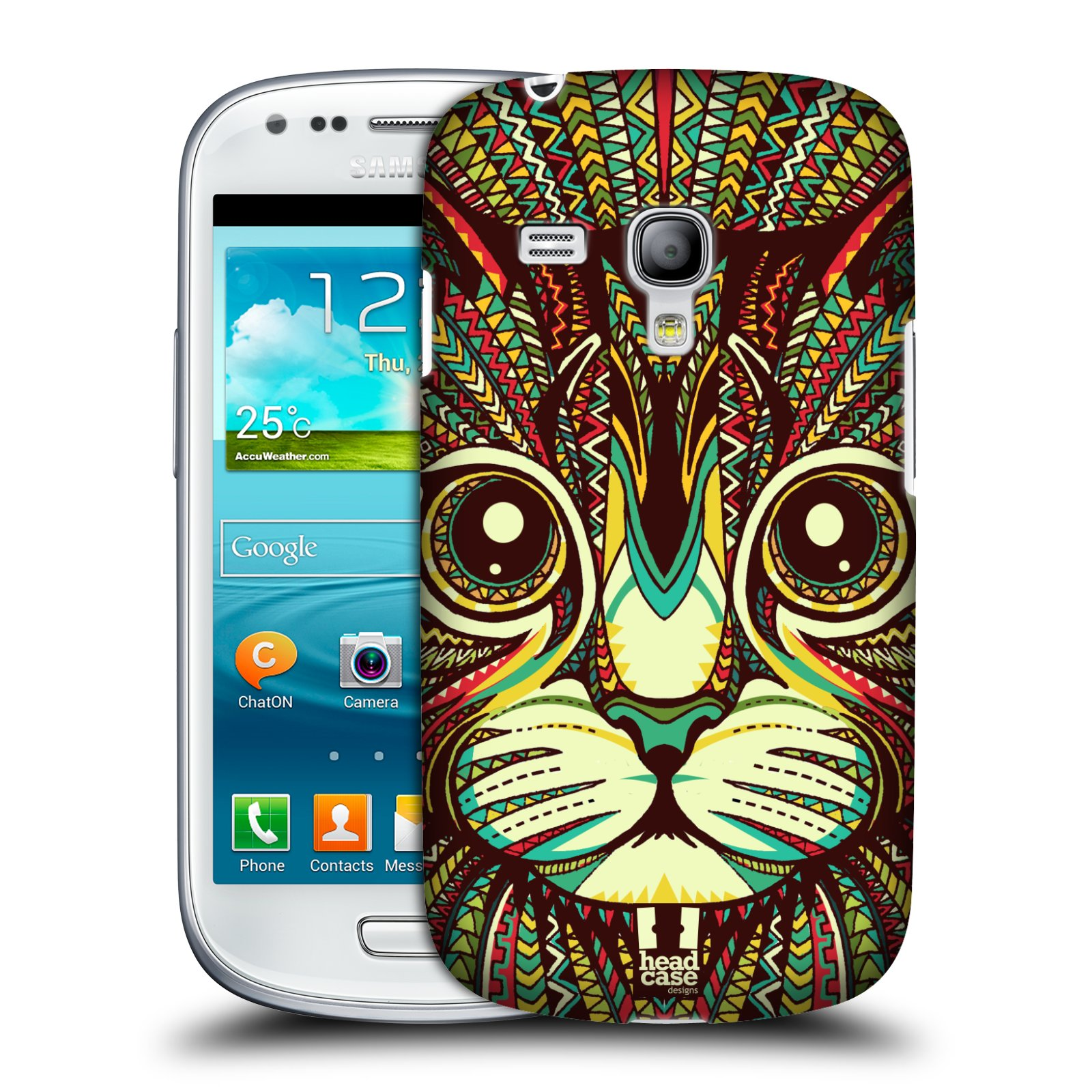Plastové pouzdro na mobil Samsung Galaxy S III Mini HEAD CASE AZTEC KOČKA (Kryt či obal na mobilní telefon Samsung Galaxy S III Mini GT-i8190)