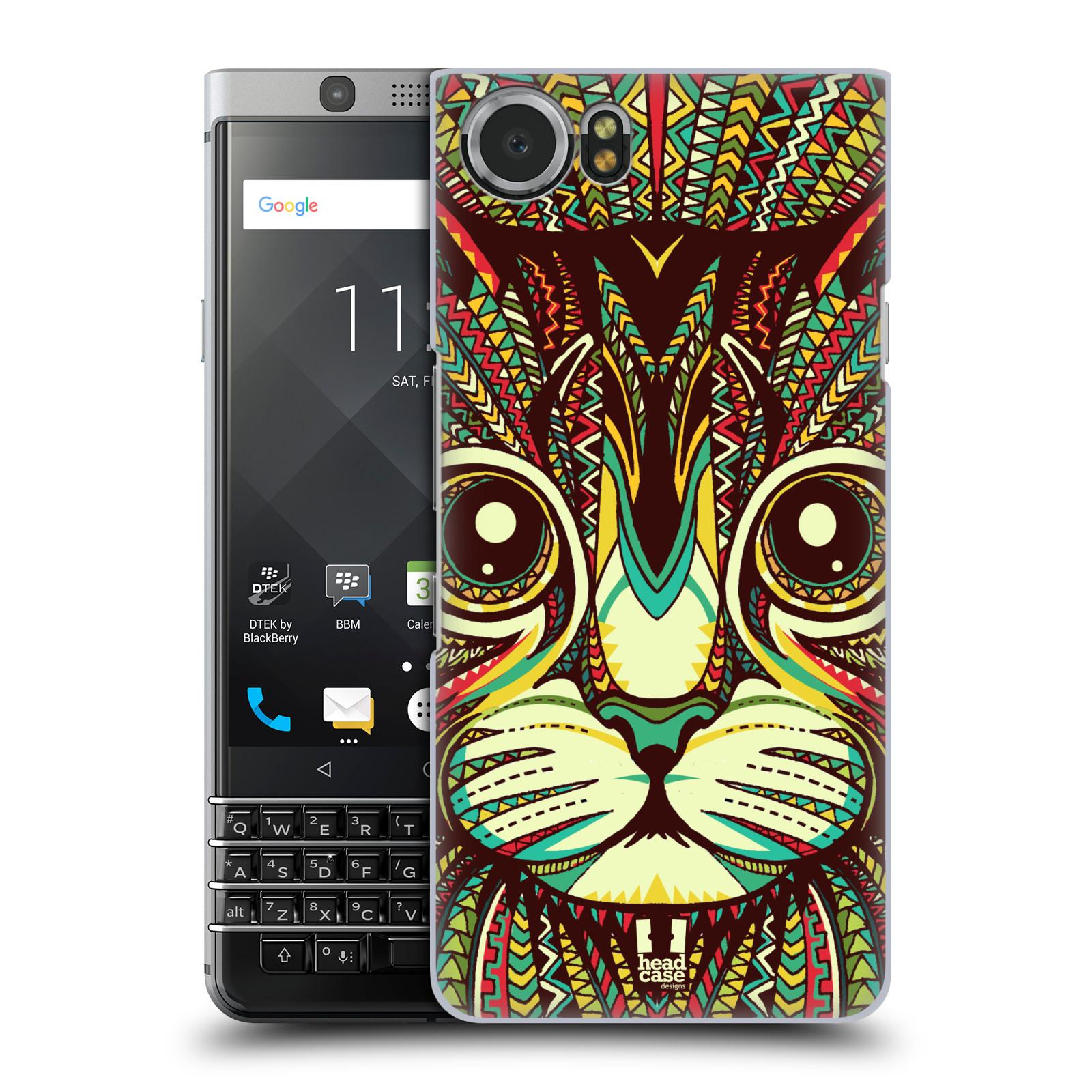 Plastové pouzdro na mobil BlackBerry KEYone - Head Case - AZTEC KOČKA
