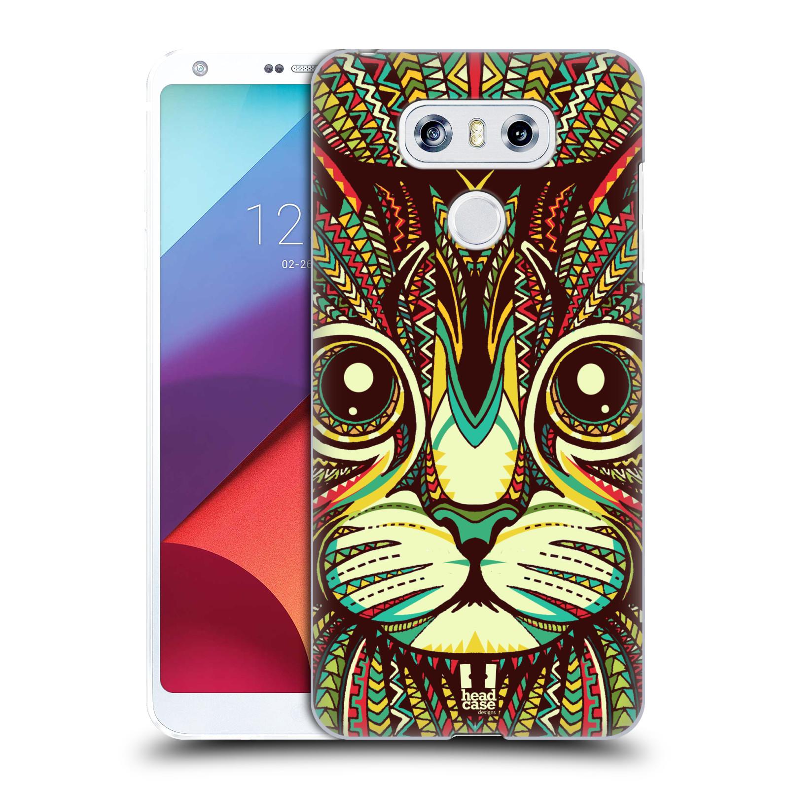 Plastové pouzdro na mobil LG G6 - Head Case AZTEC KOČKA