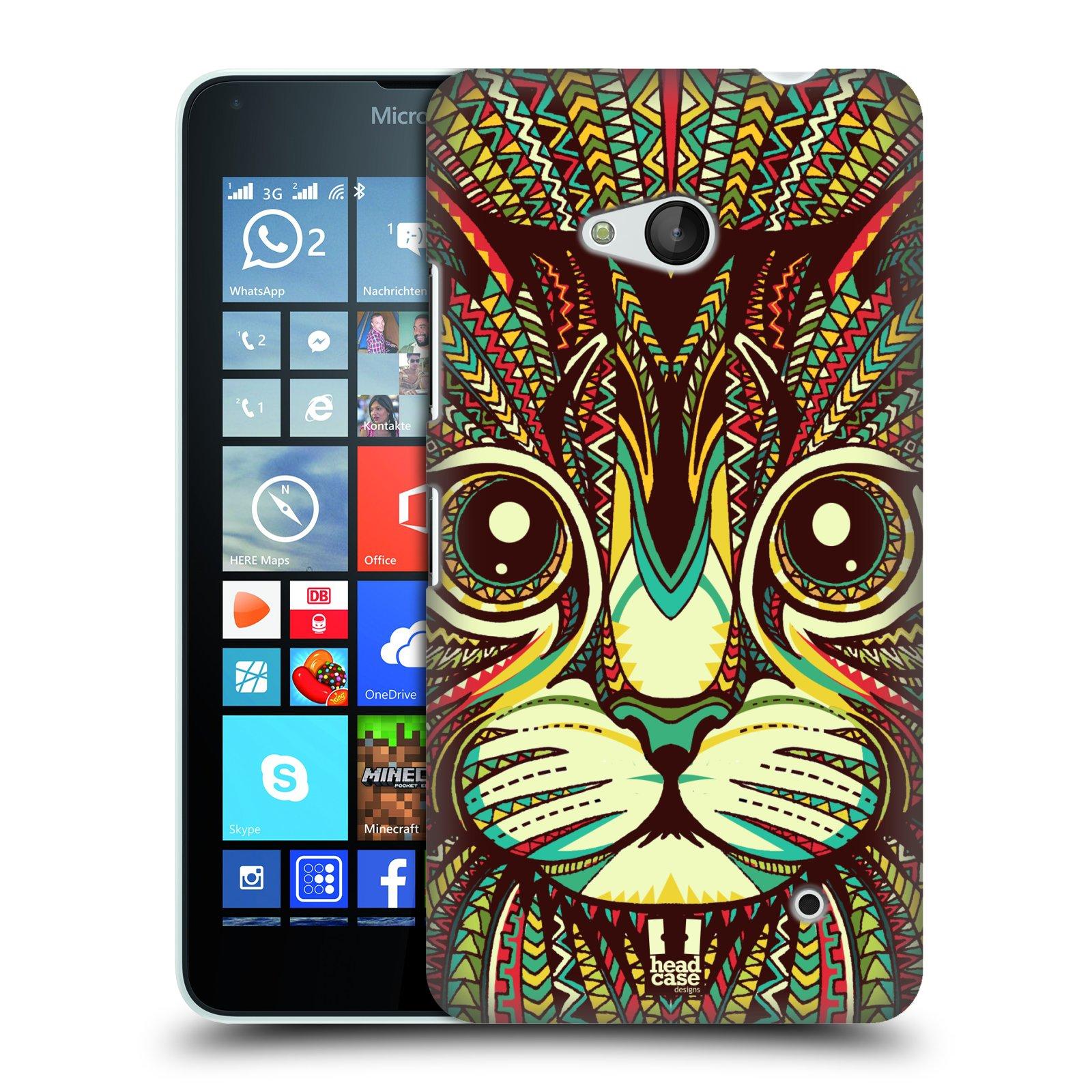Plastové pouzdro na mobil Microsoft Lumia 640 HEAD CASE AZTEC KOČKA