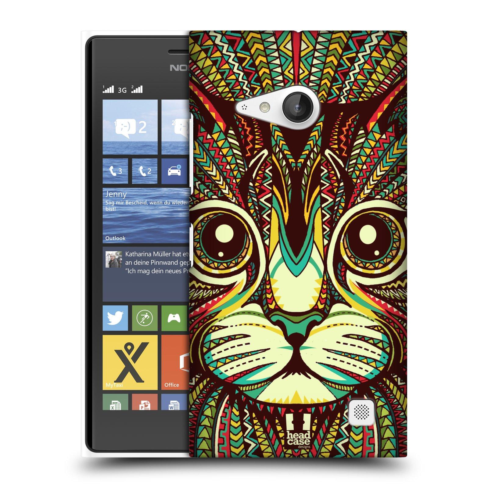 Plastové pouzdro na mobil Nokia Lumia 735 HEAD CASE AZTEC KOČKA