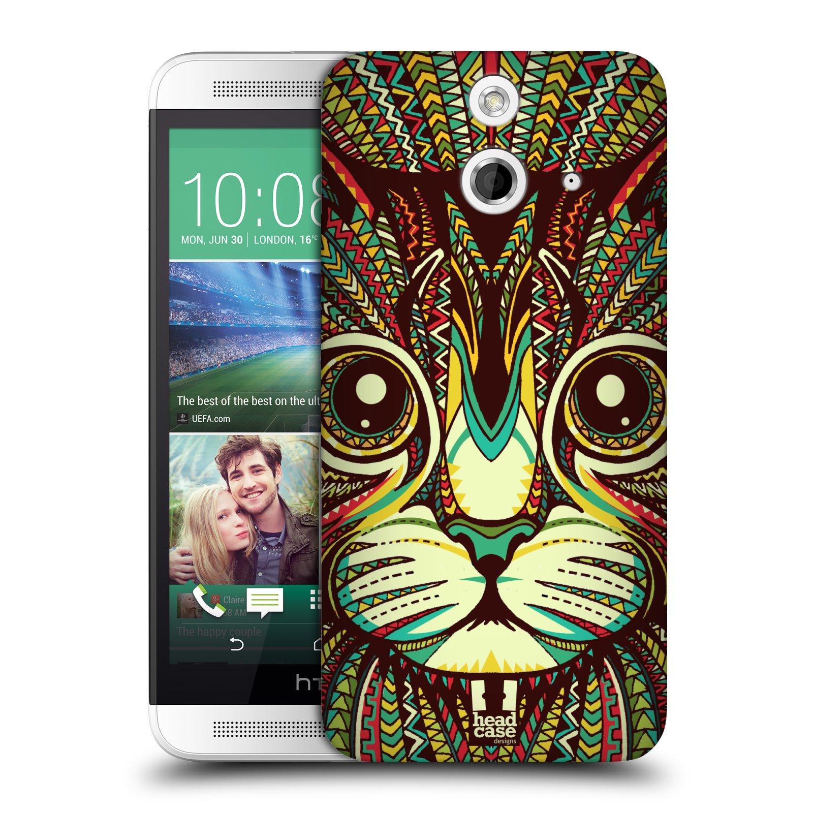 Plastové pouzdro na mobil HTC ONE E8 HEAD CASE AZTEC KOČKA (Kryt či obal na mobilní telefon HTC ONE E8)