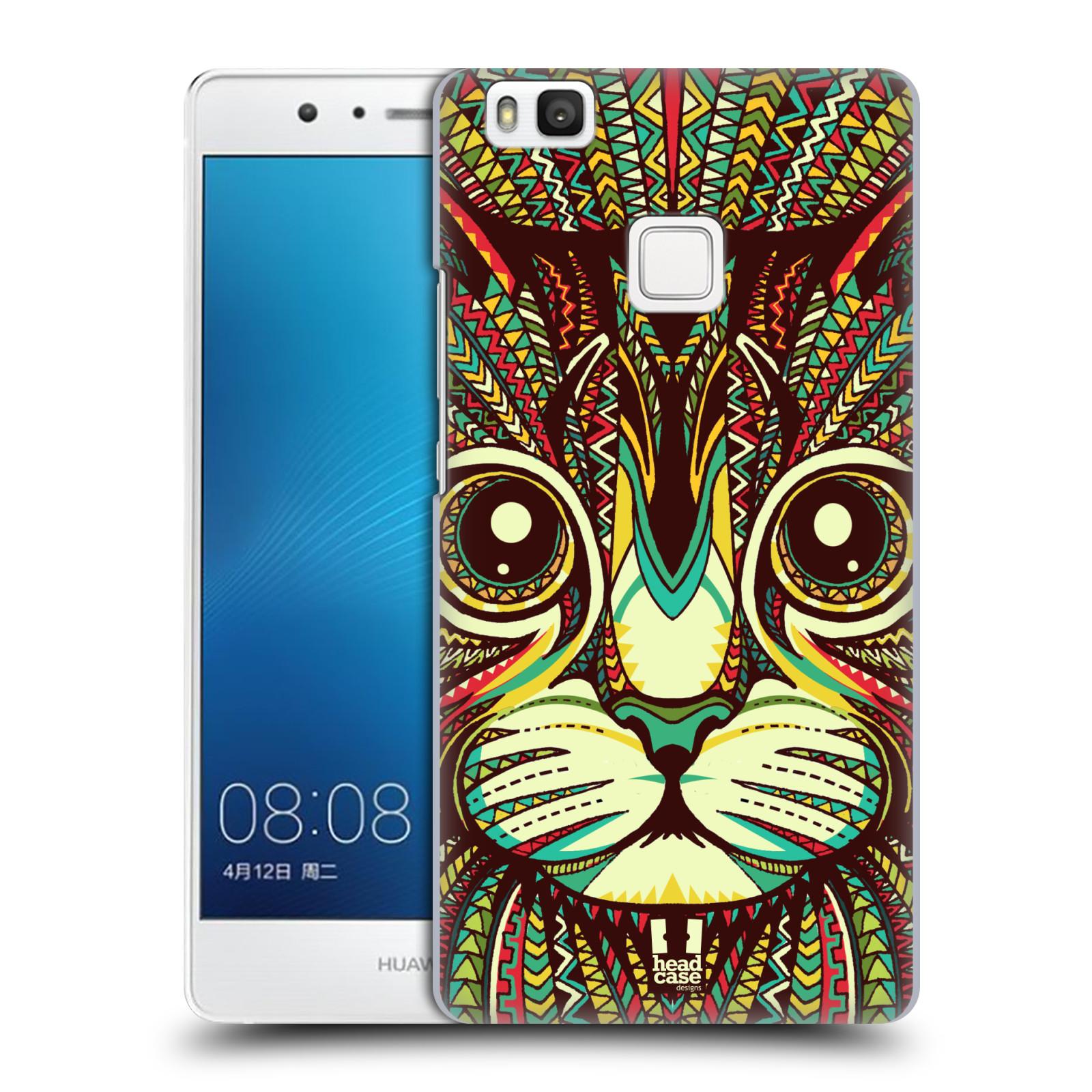 Plastové pouzdro na mobil Huawei P9 Lite HEAD CASE AZTEC KOČKA