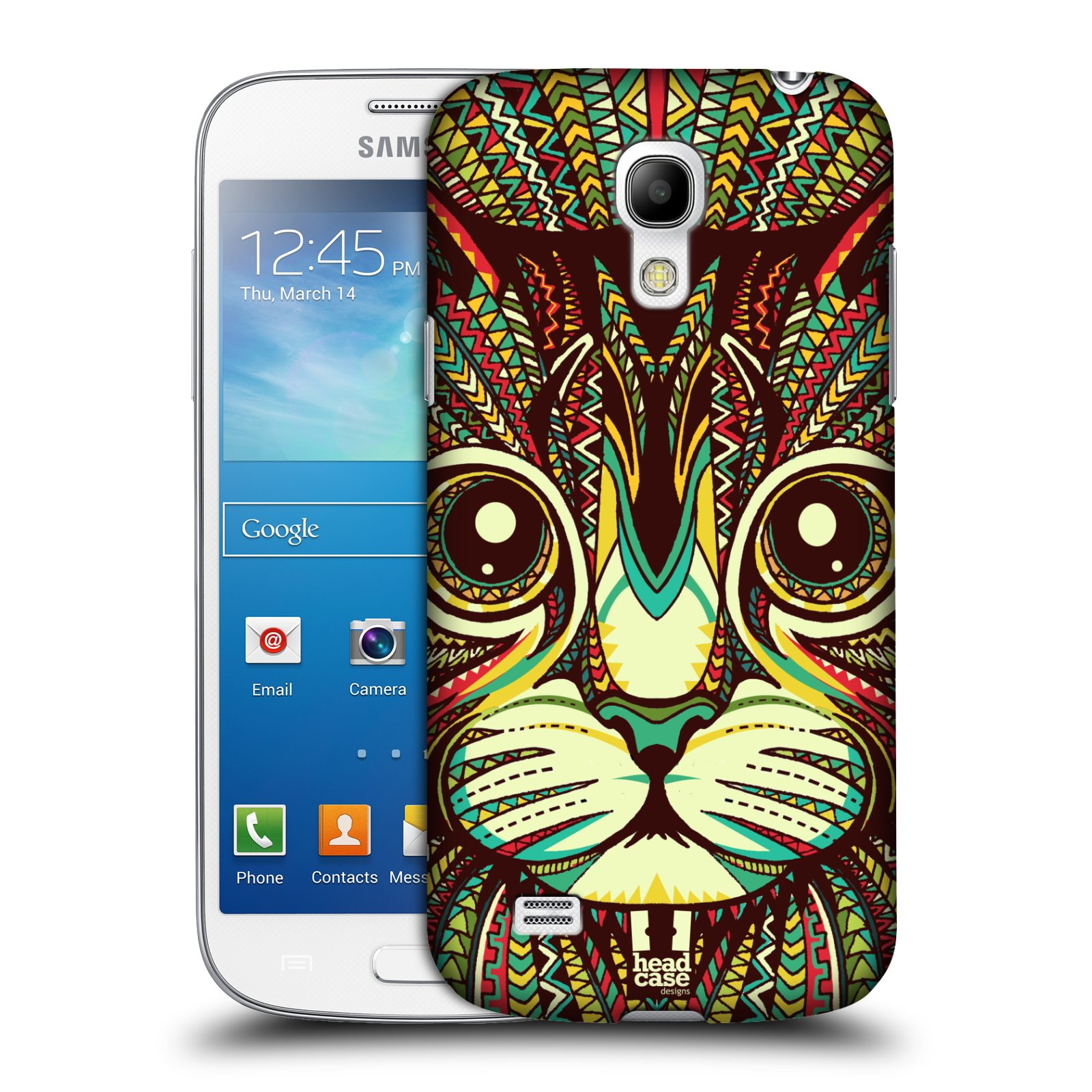 Plastové pouzdro na mobil Samsung Galaxy S4 Mini VE HEAD CASE AZTEC KOČKA