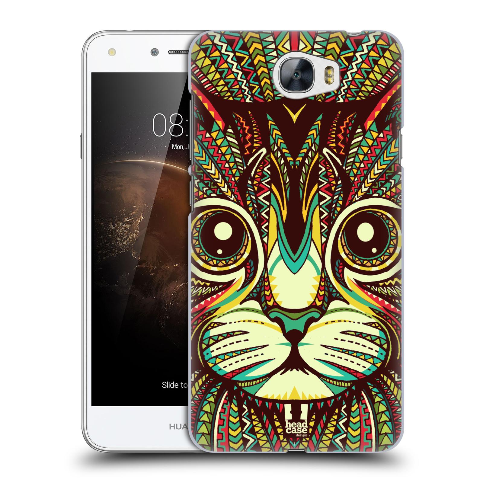 Plastové pouzdro na mobil Huawei Y5 II HEAD CASE AZTEC KOČKA