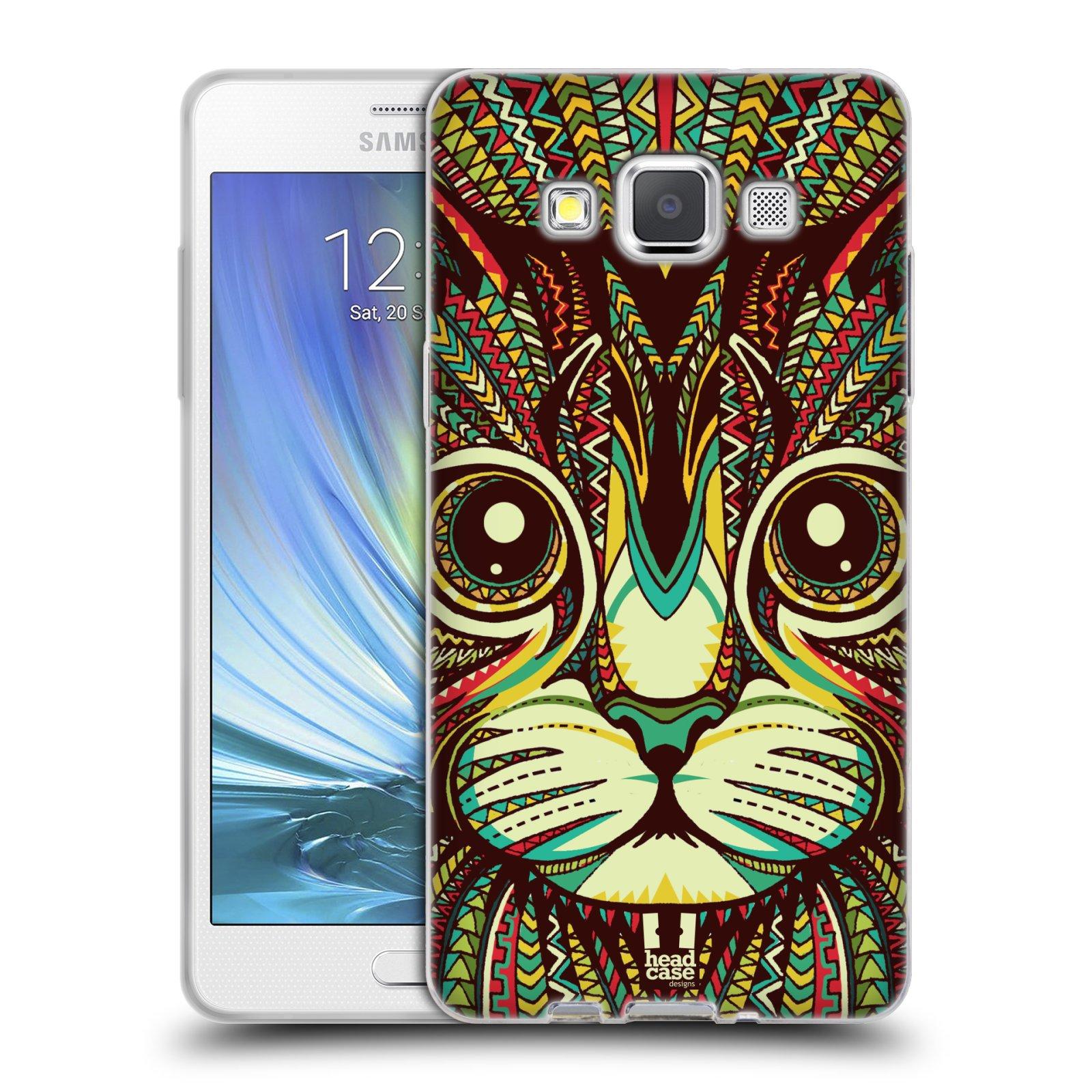 Silikonové pouzdro na mobil Samsung Galaxy A5 HEAD CASE AZTEC KOČKA