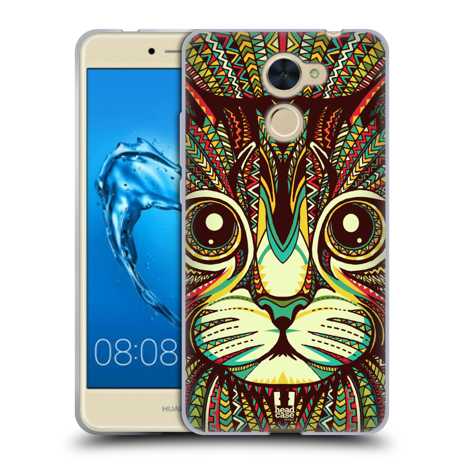 Silikonové pouzdro na mobil Huawei Y7 - Head Case - AZTEC KOČKA