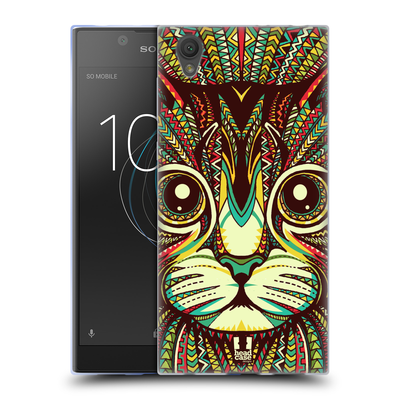 Silikonové pouzdro na mobil Sony Xperia L1 - Head Case - AZTEC KOČKA